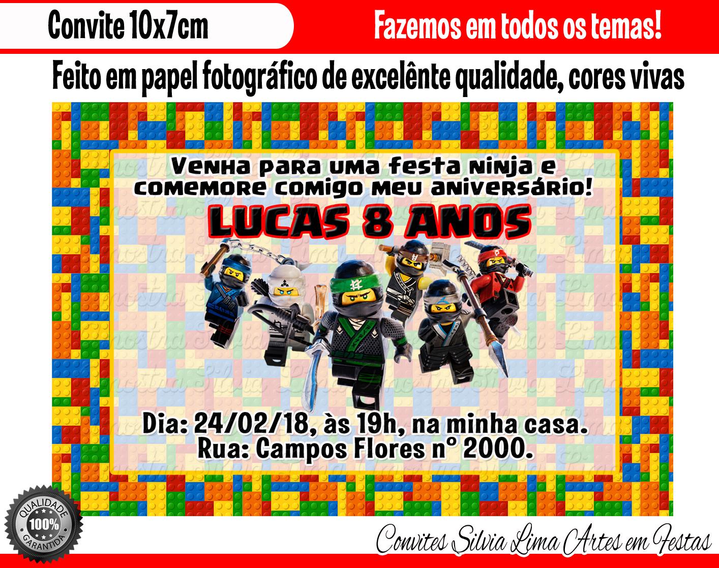 Convite Ninjago No Elo7 Silvia Lima Artes Em Personalizados Af2565