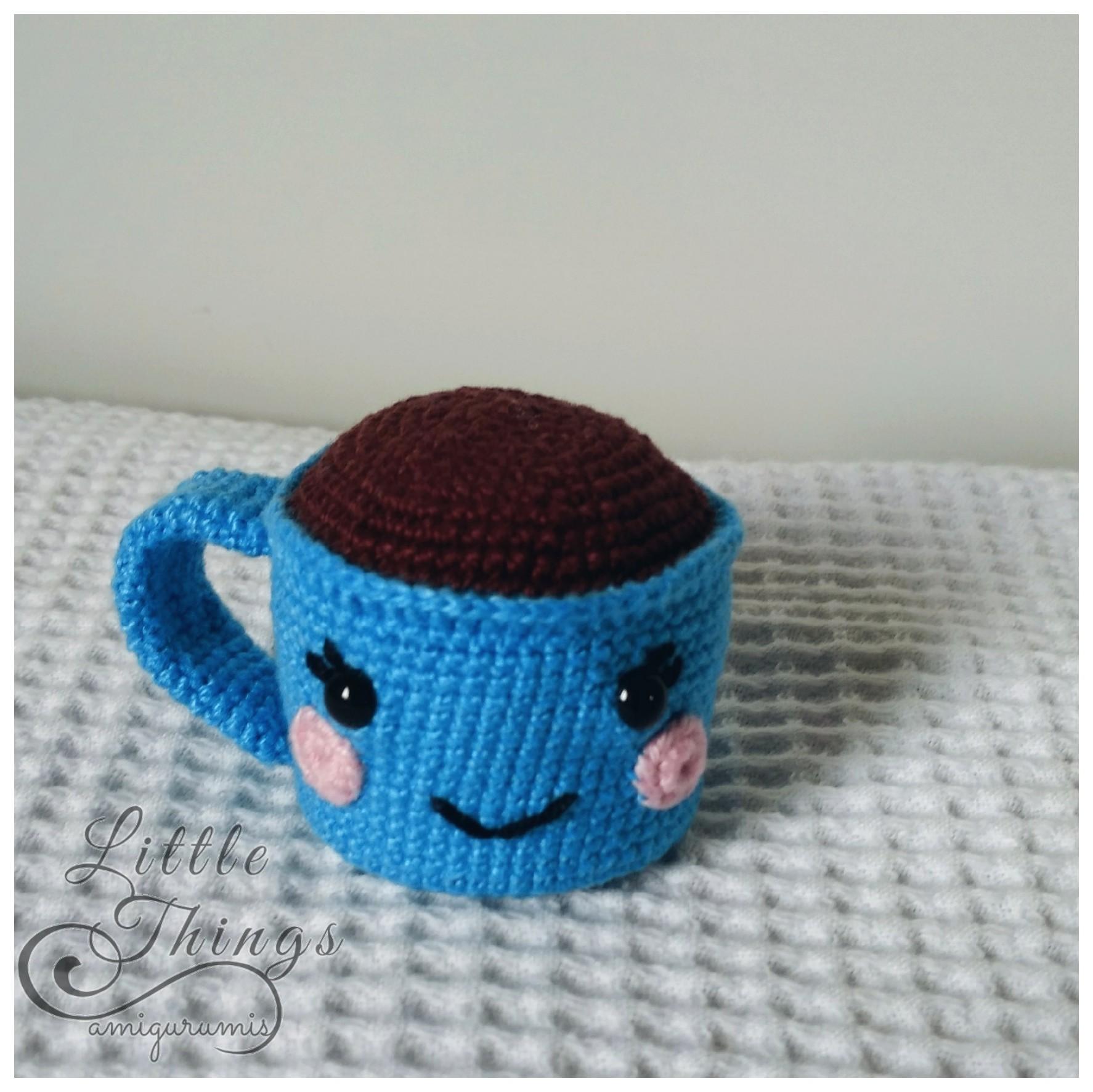 Amigurumi: Xícara de Café Azul   Boneca amigurumi, Amigurumi, Xícara de café   1773x1774