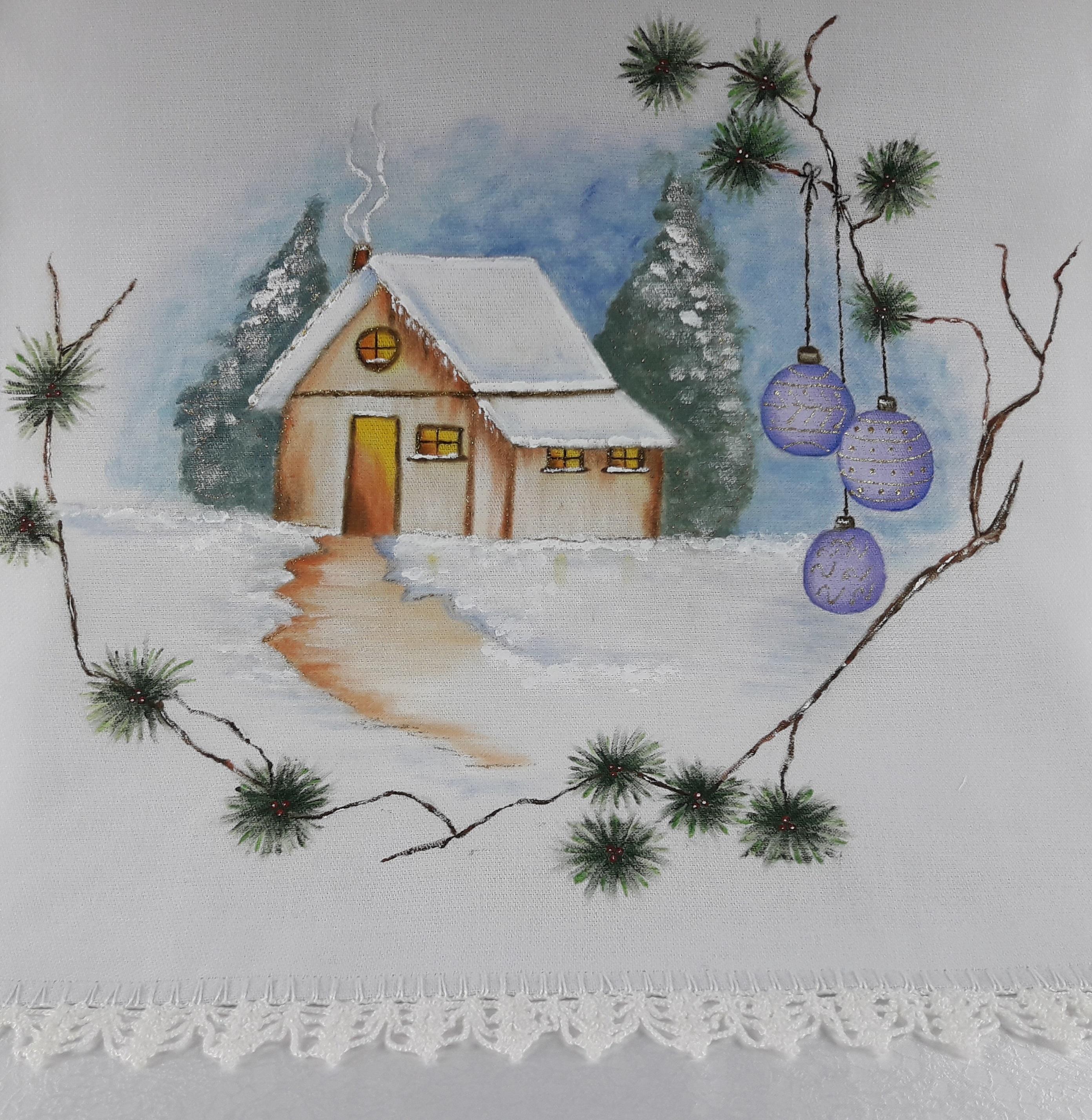 Pano De Prato Pintura Natal No Elo7 Bonecolandia Aff7e2