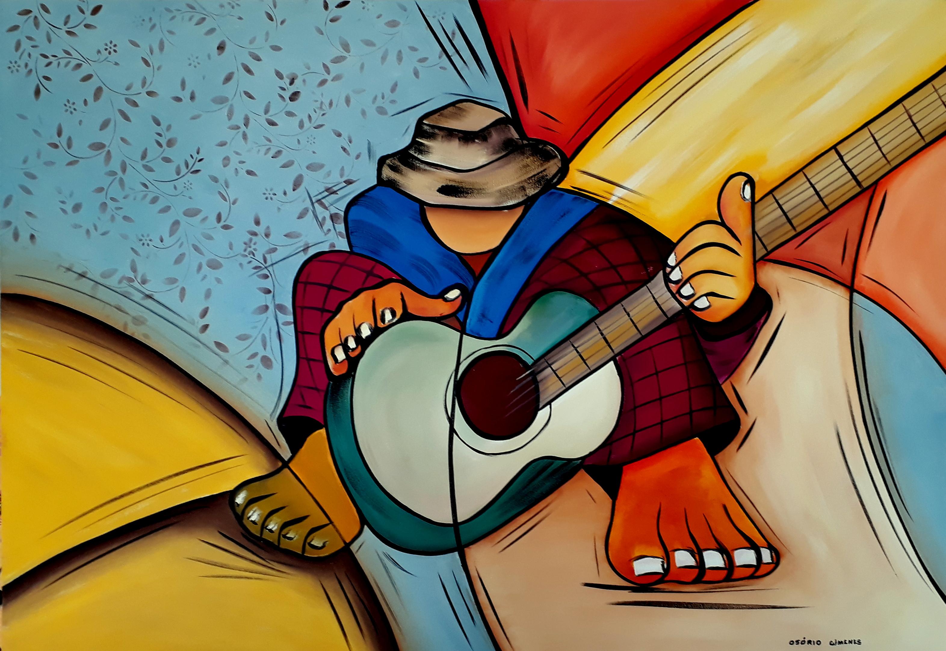 Poster quadro pelé with guitar and football em europosters pt