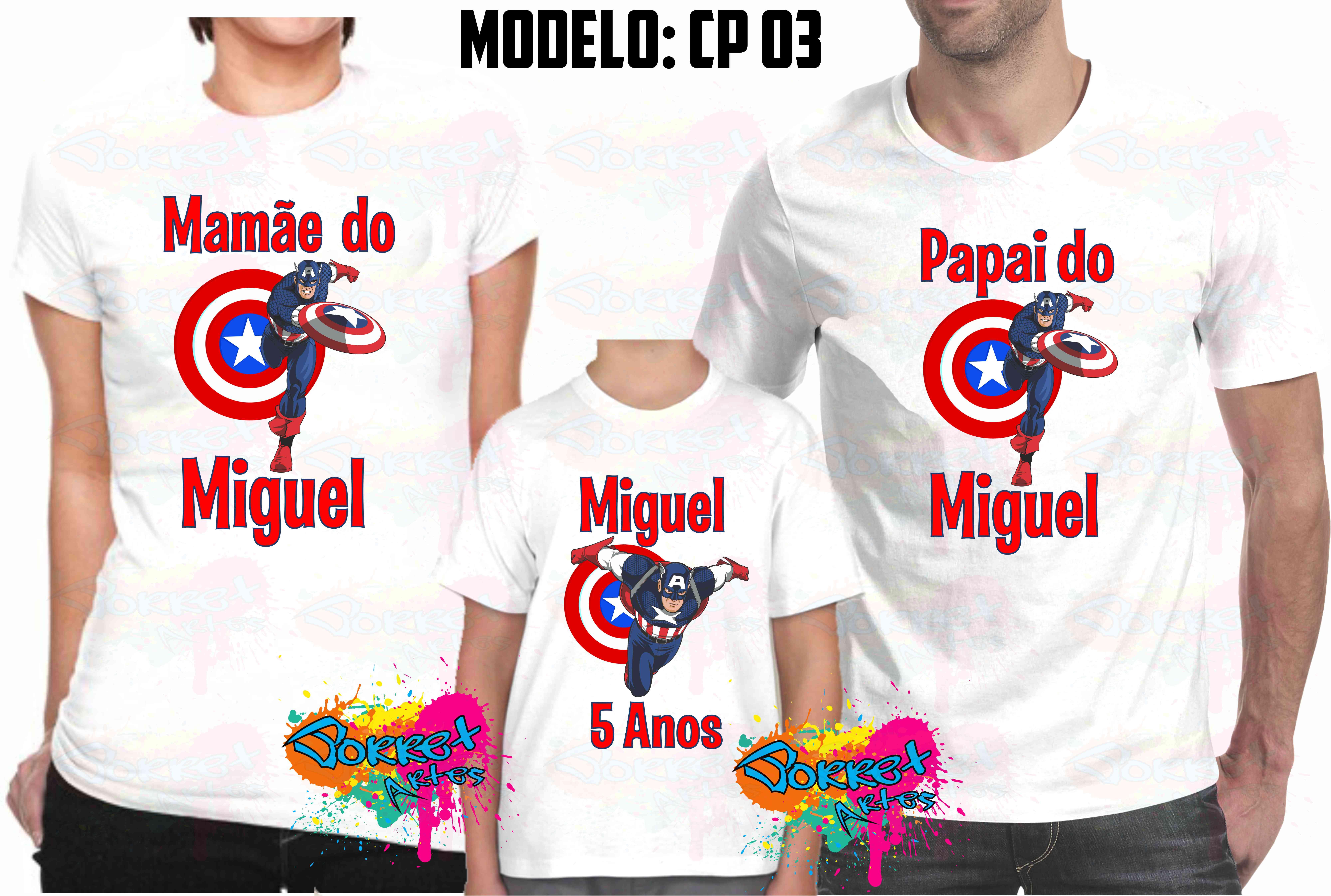 dfdab32cf3667 9 Pçs Camisa Personalizada qualquer tema no Elo7
