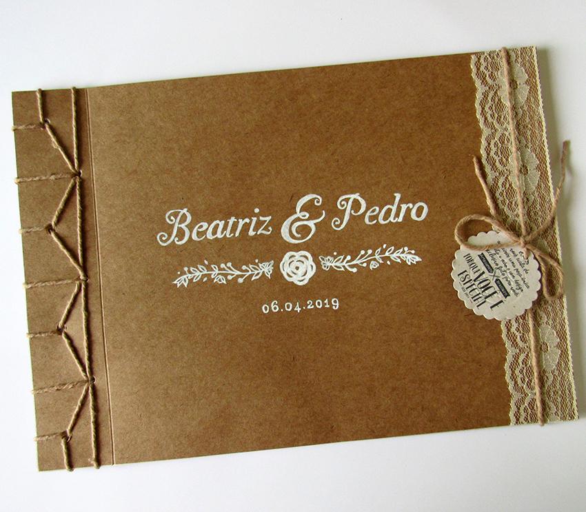 Design Of Caderno de mensagem para casamento capa com renda e preço