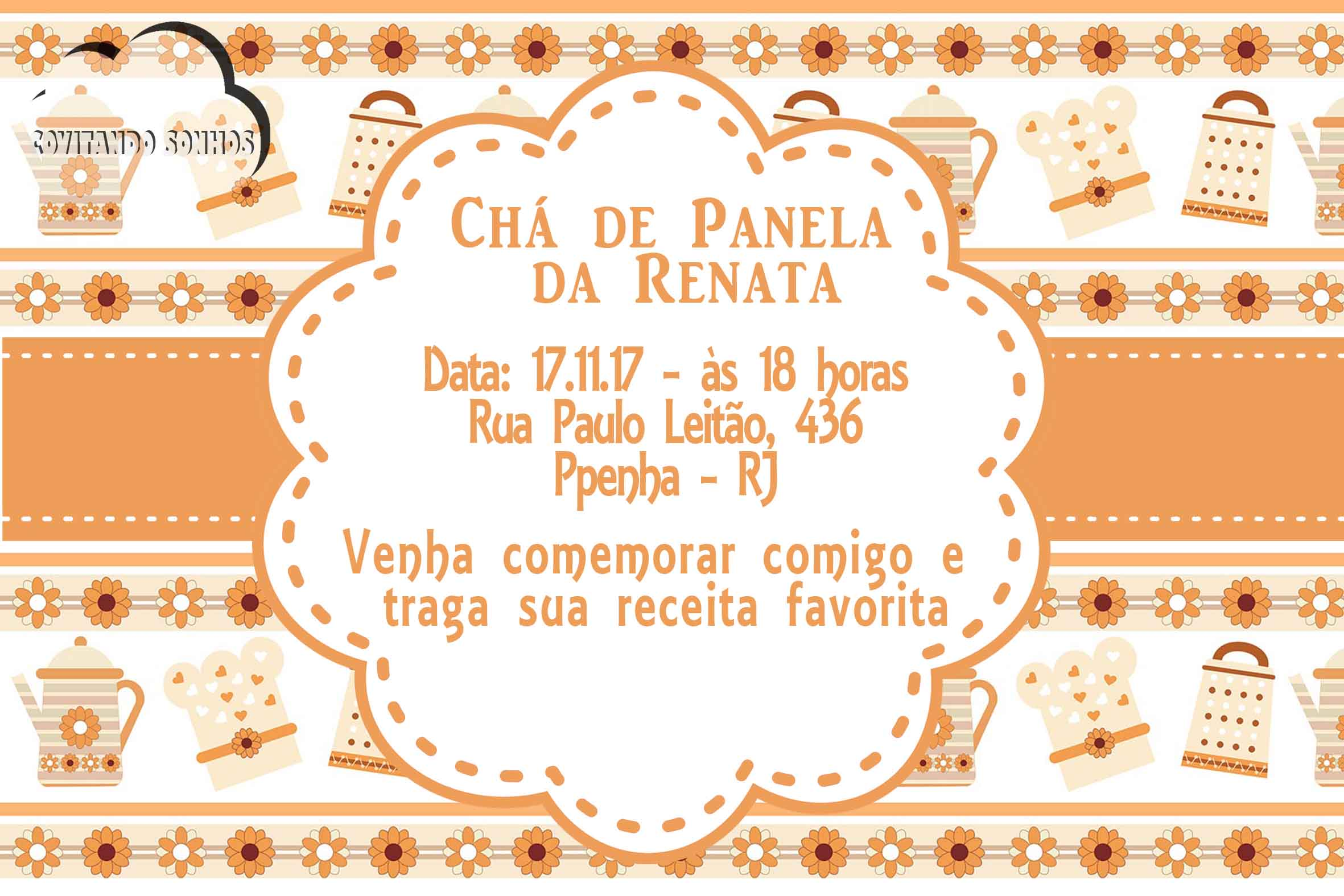 Convite Digital Chá De Panela No Elo7 Convitando Sonhos C5e60c
