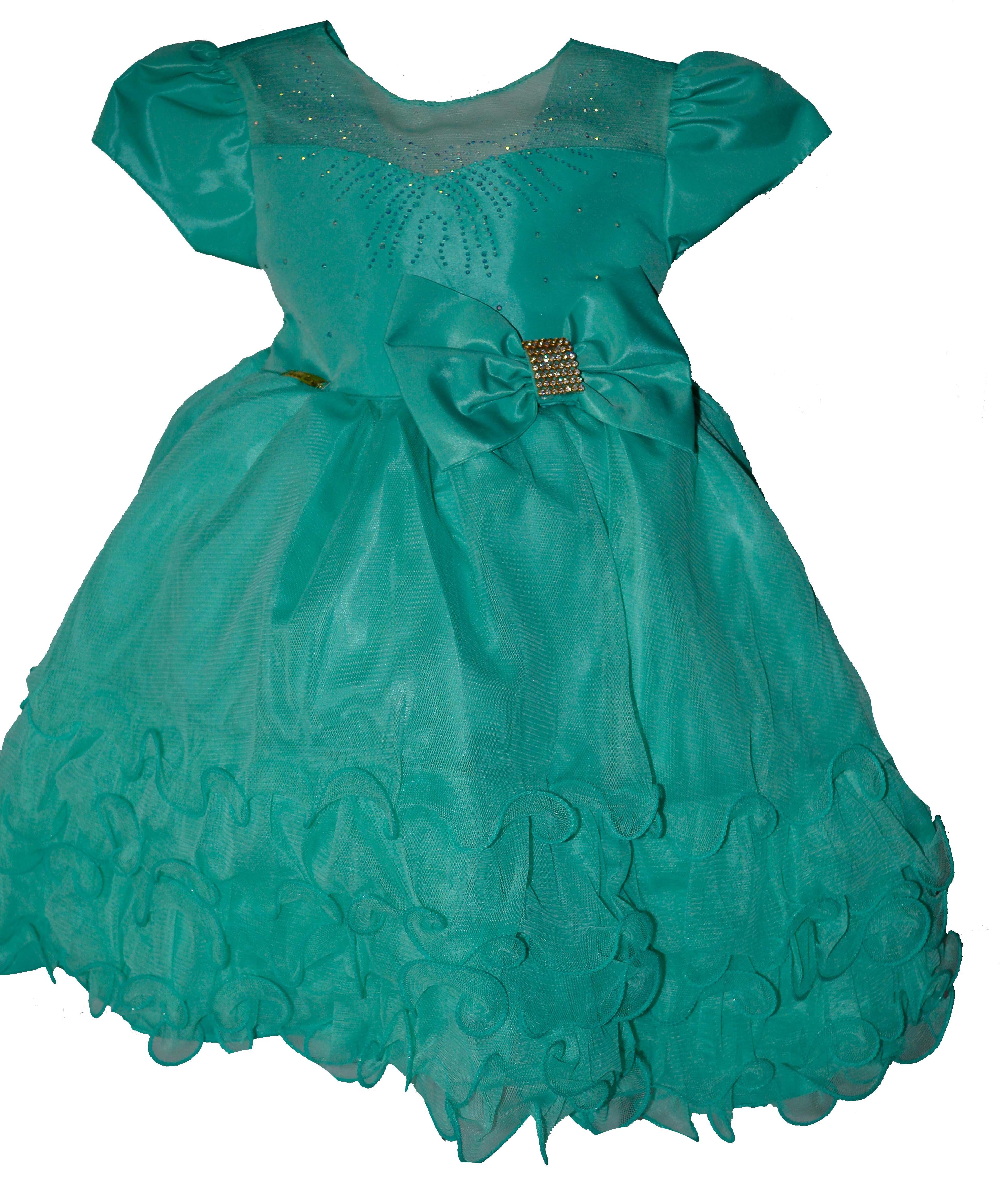 Vestido verde tifany