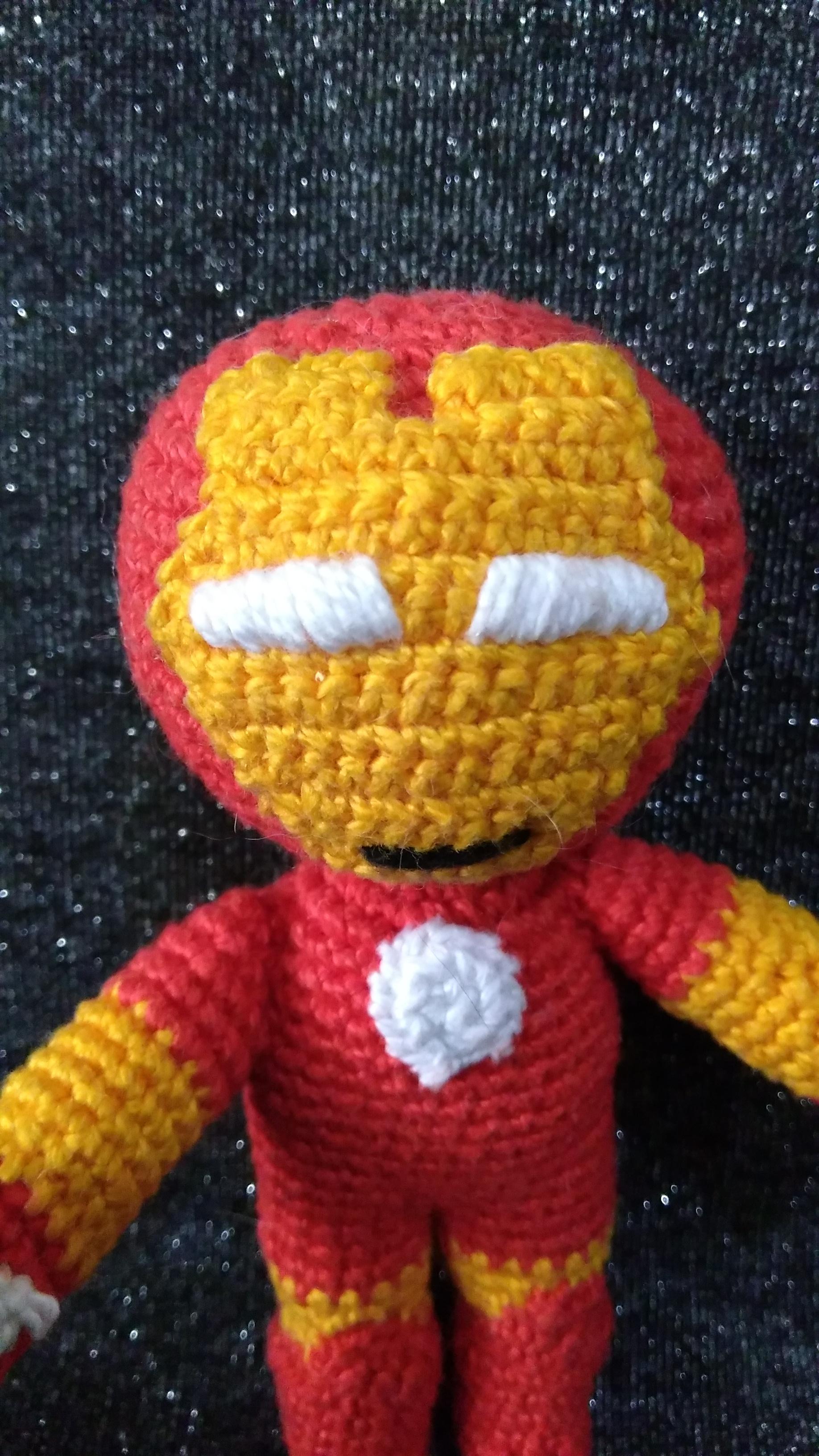 Homem de Ferro (Iron Man) amigurumi no Elo7 | Amigurando (CC3518) | 3264x1836
