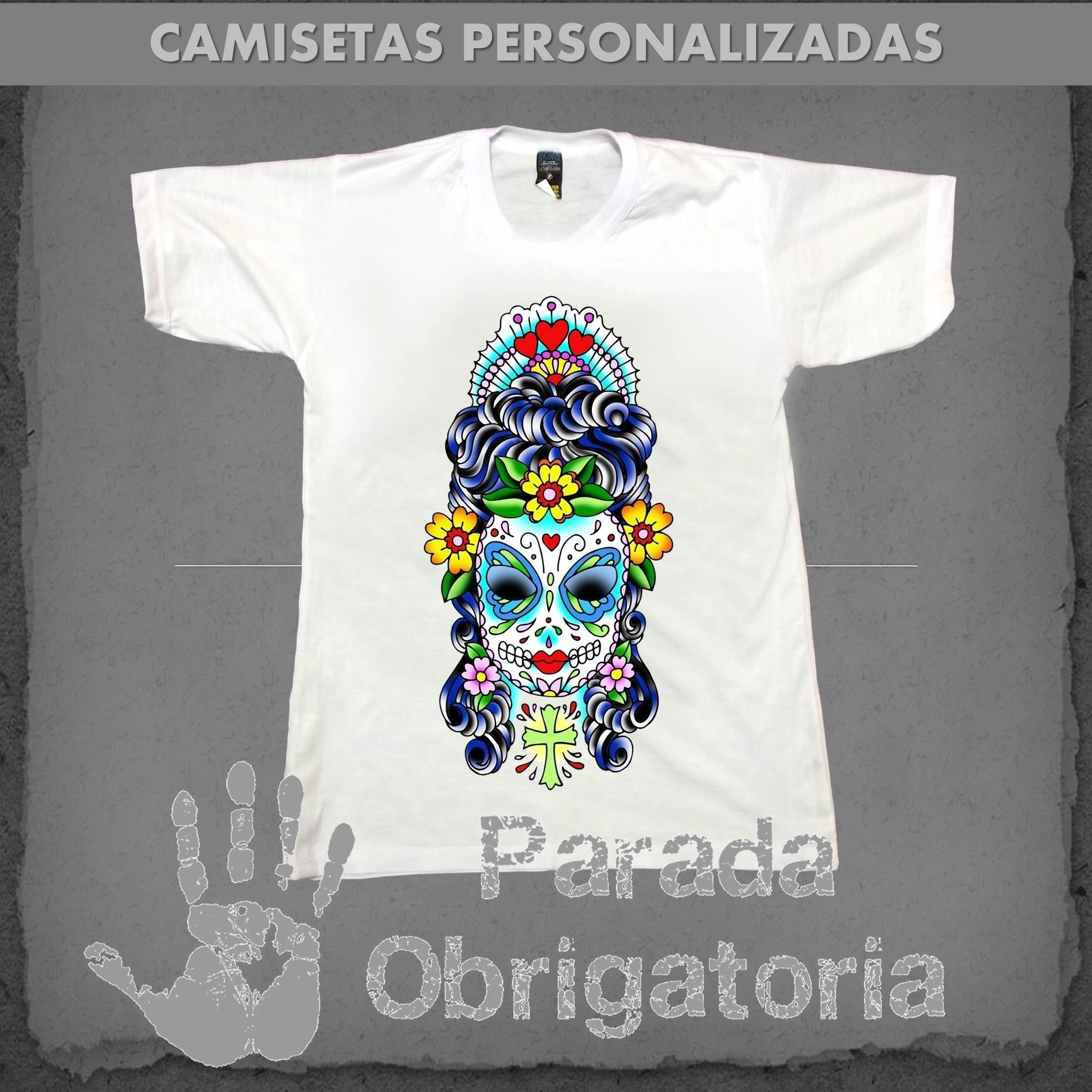 bb9acbbfd967c Camiseta Caveira Mexicana no Elo7