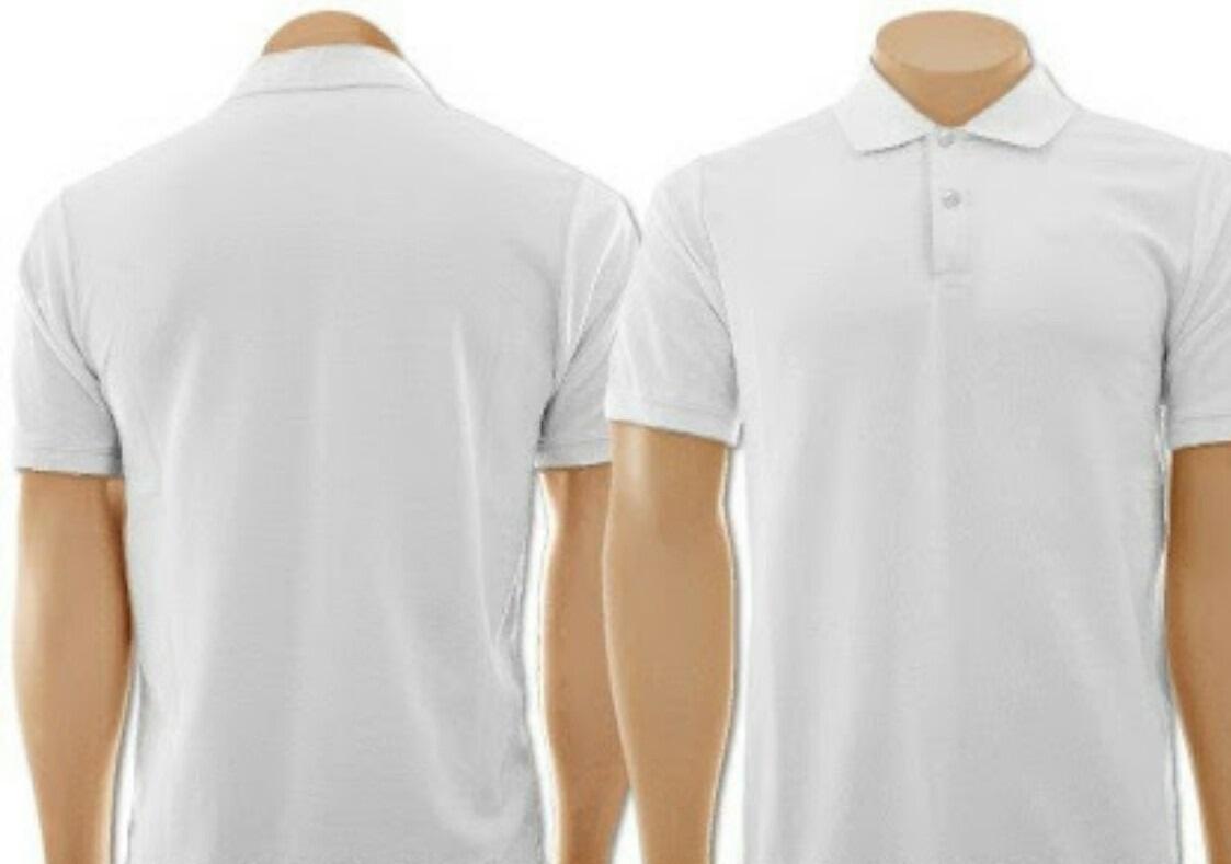 Camisa Polo Masculina Branca C Sua Estampa  e880e024b7ced