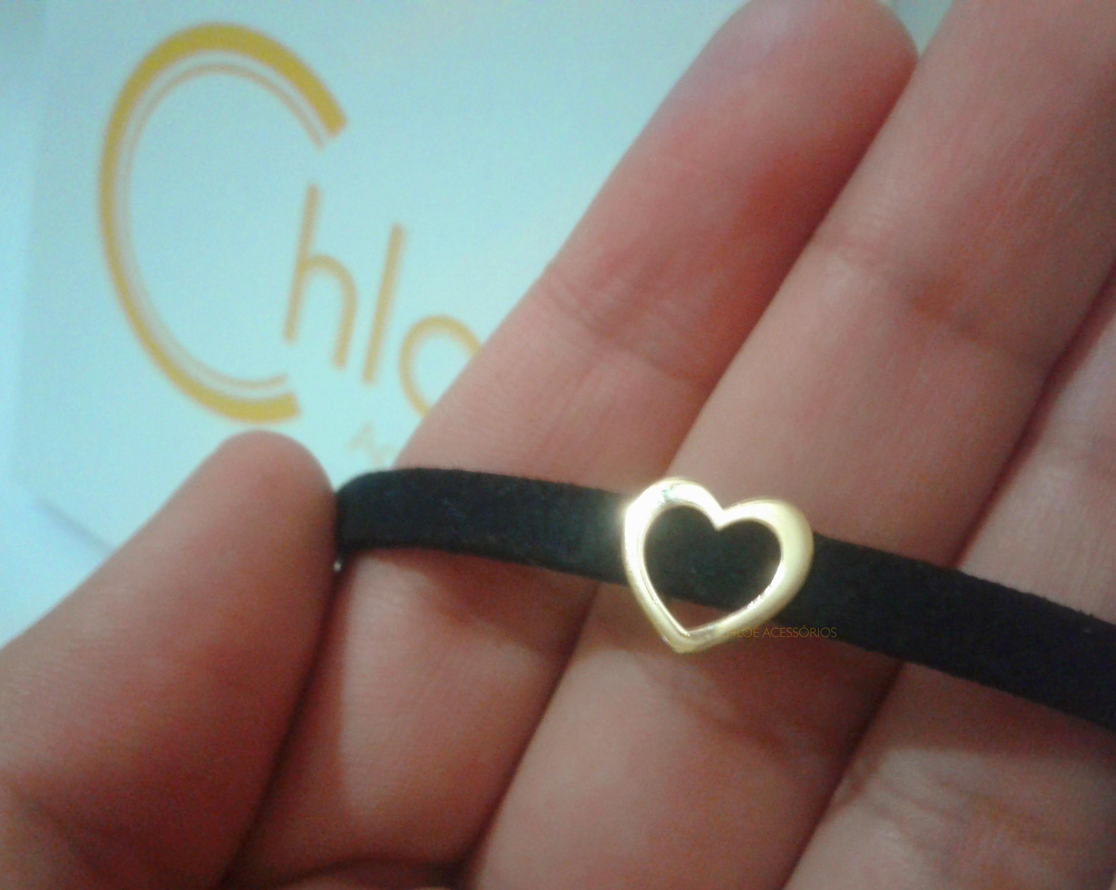Gargantilha Choker Coração - Ouro 18K no Elo7   Chloé Acessórios (88DDB8) 3334212f7b