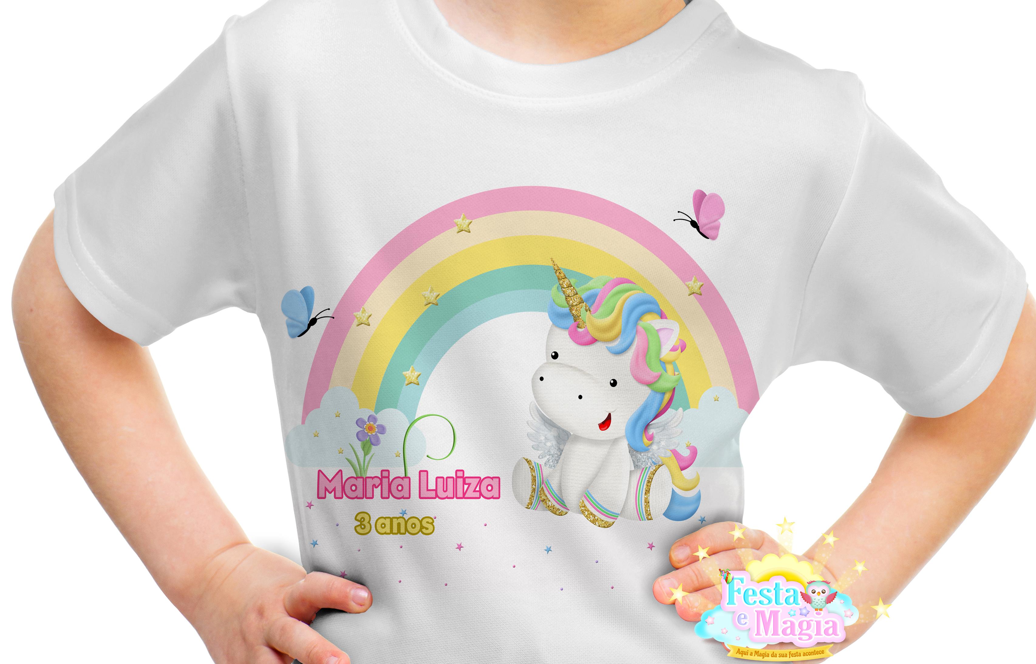 717b2959f Camiseta Personalizada Unicornio no Elo7