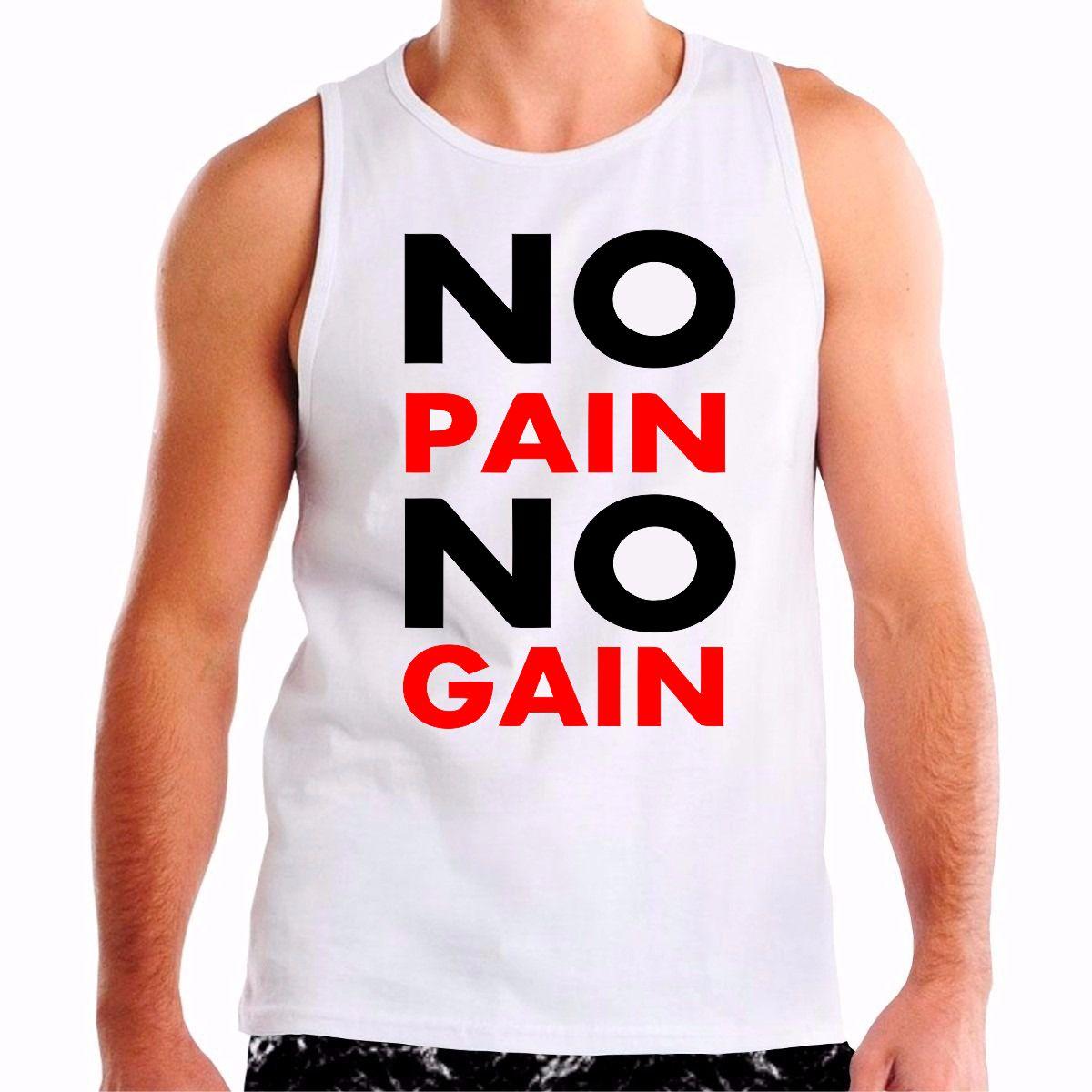 Blusa Personalizada No Pain No Gain  650a002eb2d