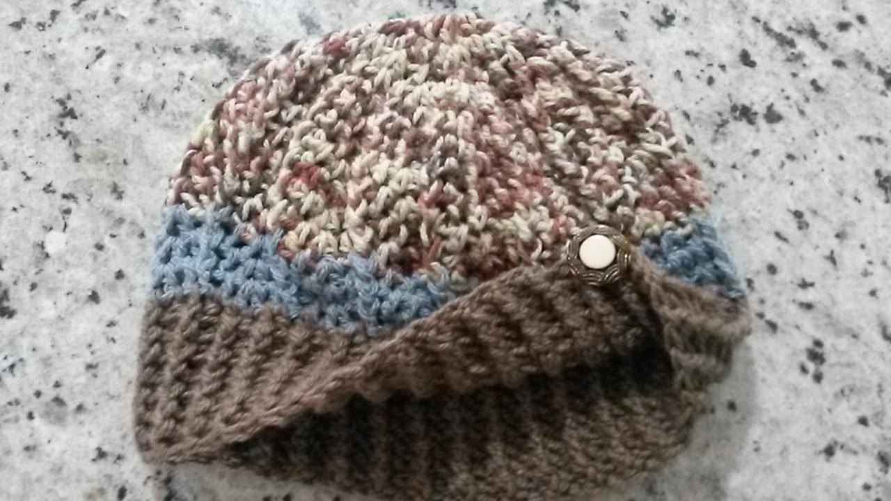 Boina Croche detalhes com linda Flor no Elo7  7548b76a843