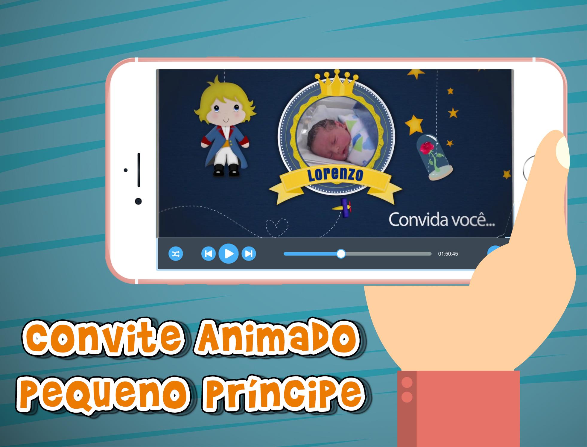 Convite Animado Virtual Pequeno Príncipe