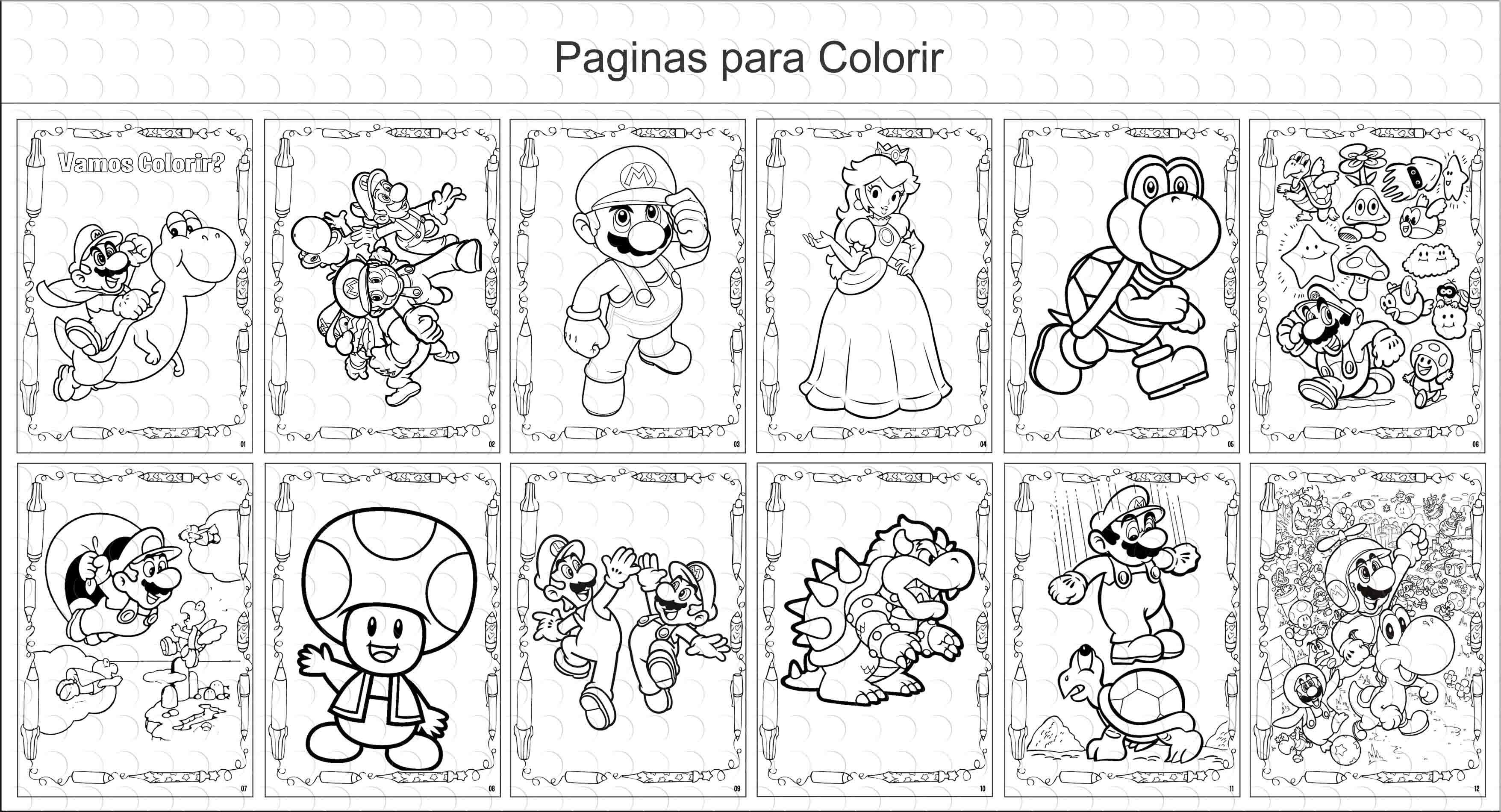 Livro De Colorir 10x15 Mario Bros No Elo7 G A Personalize Ace3a2