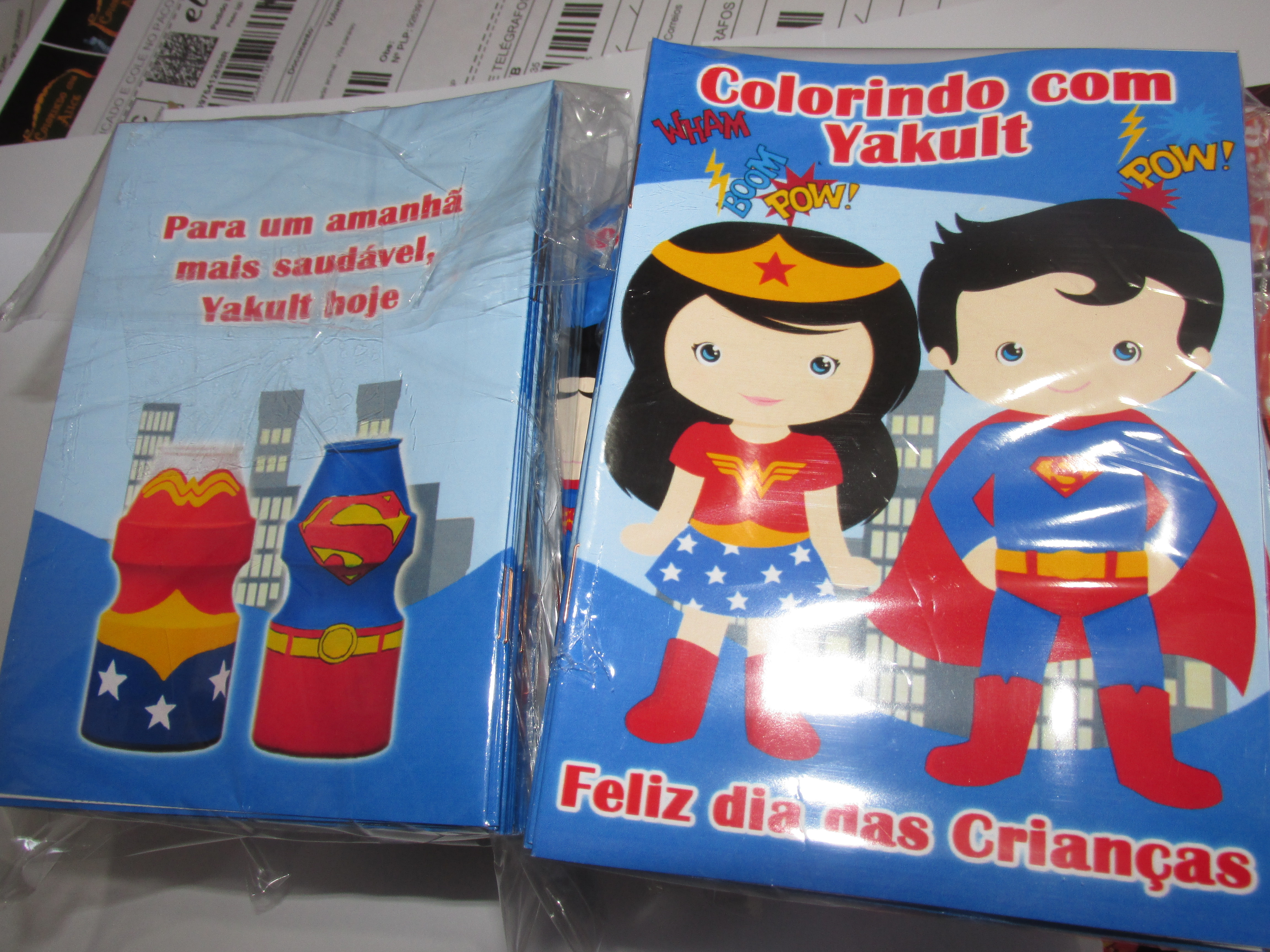 Revista Super Man E Mulher Maravilha Cute 14x10 No Elo7 Tudo De