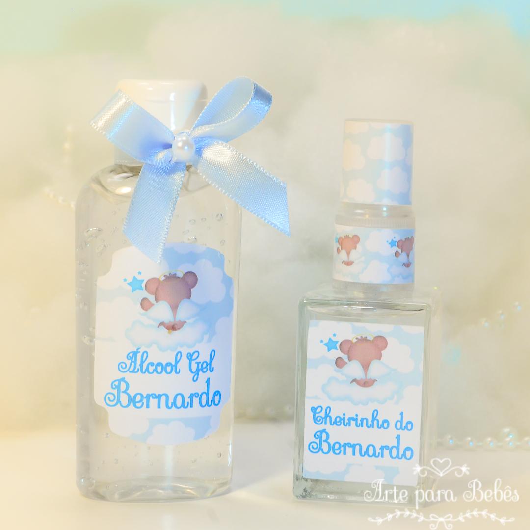 Kit Maternidade Nuvem Álcool Gel 60gr HomeSpray no Elo7   Arte Para Bebês  (B2677A) 09b8df198d