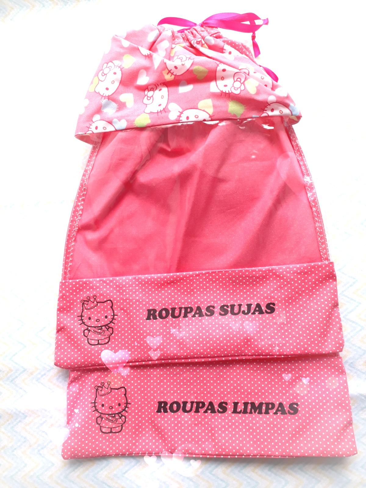 4e472e9fcd Kit Sacola Organizadora Roupa Limpa Roupa suja Hello Kitty 2 no Elo7 ...