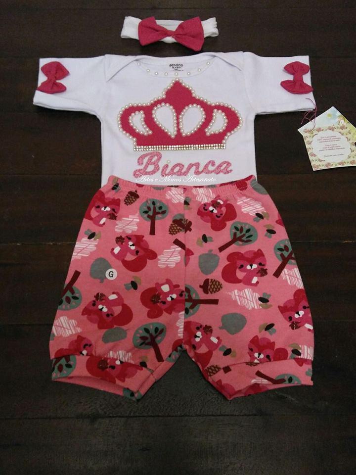 18bdfc01dcc Body Flamengo Conjuntinho com Shorts Personalizado | Elo7