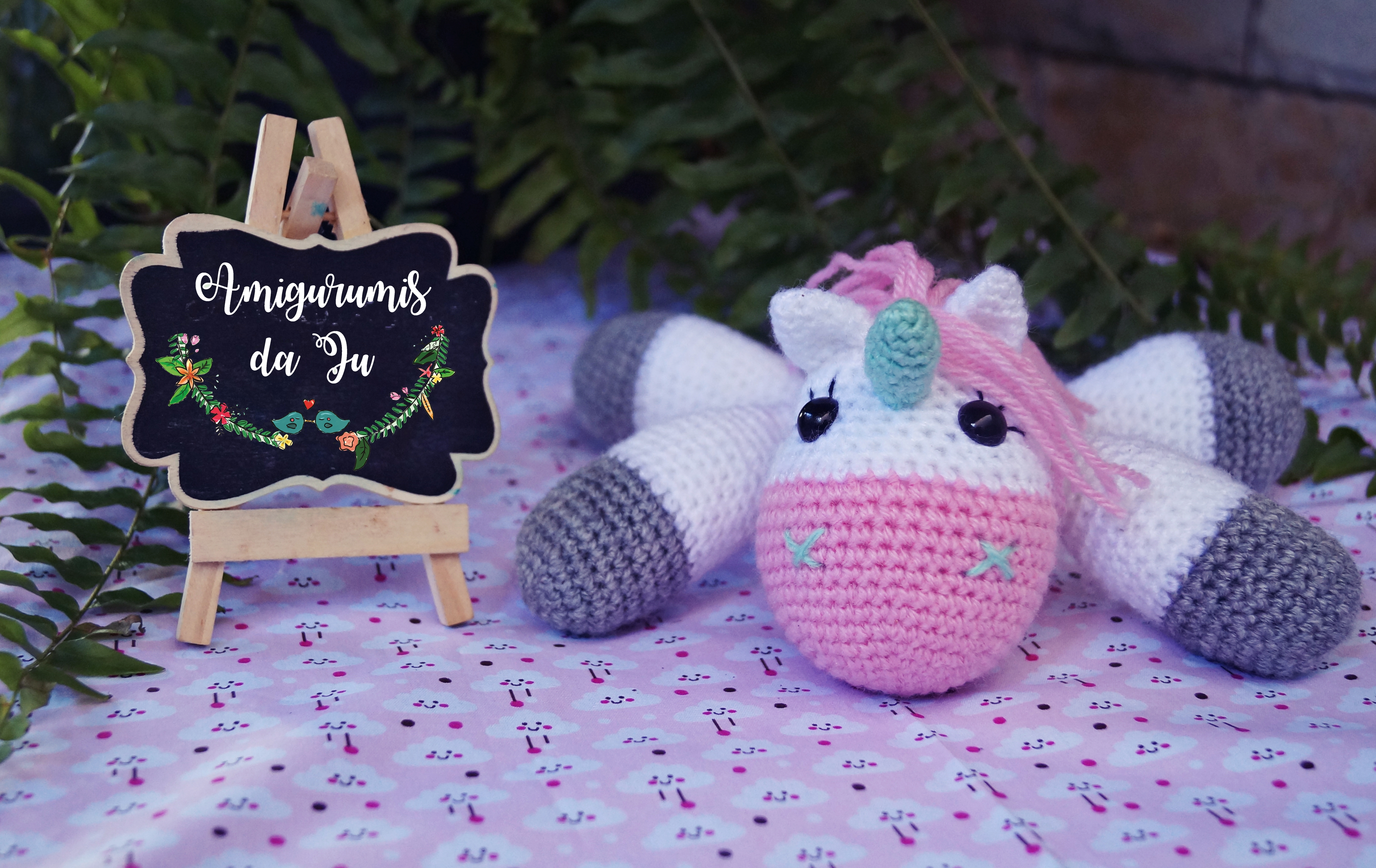 Baby Unicorn Free Amigurumi Pattern & Video Tutorial - Sueños ... | 2750x4359