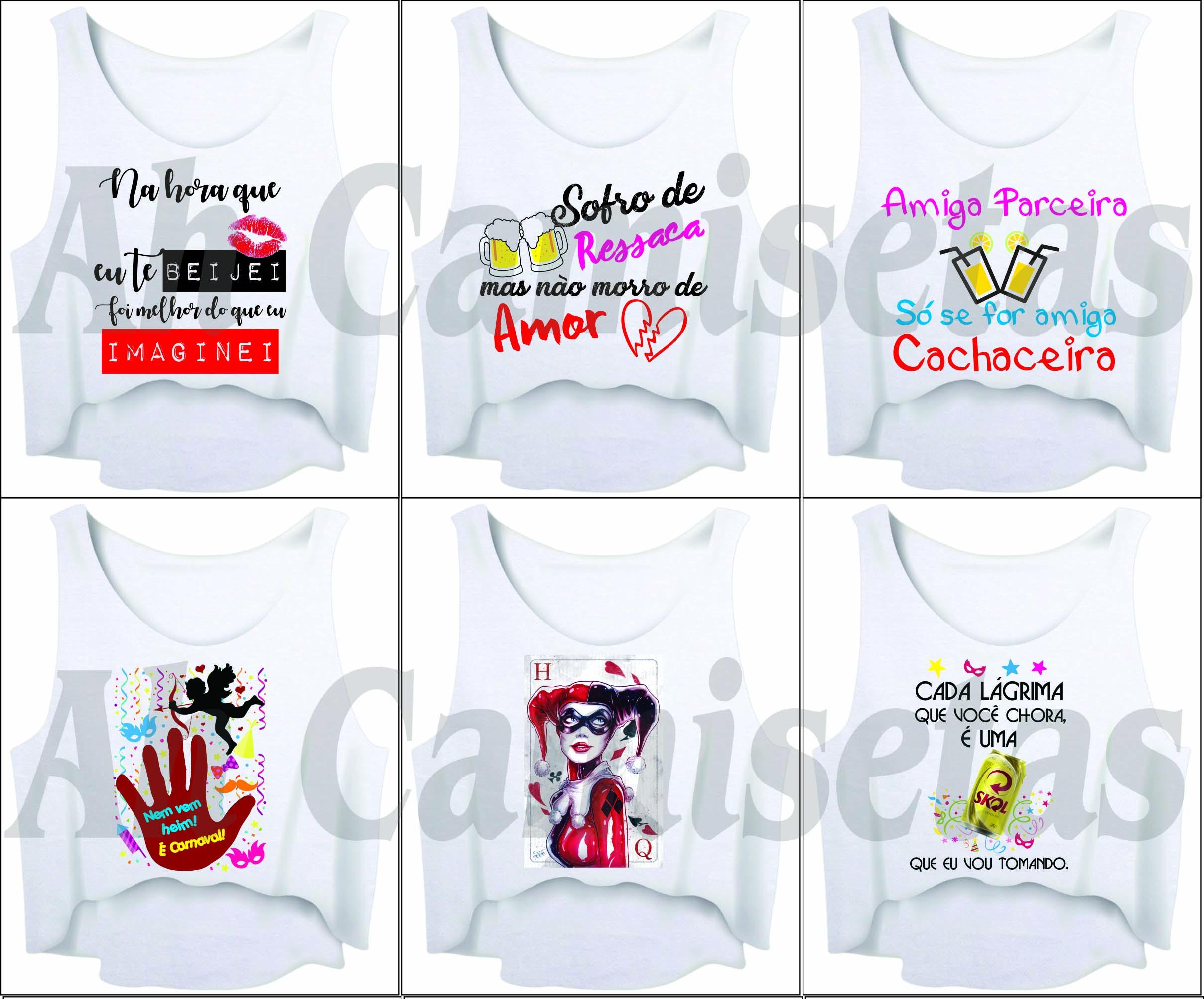Cropped Carnaval No Elo7 Estilo Ah Camisetas B2bcc0