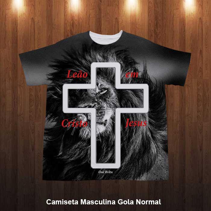 e574017fd Camiseta Azul Jesus Cristo
