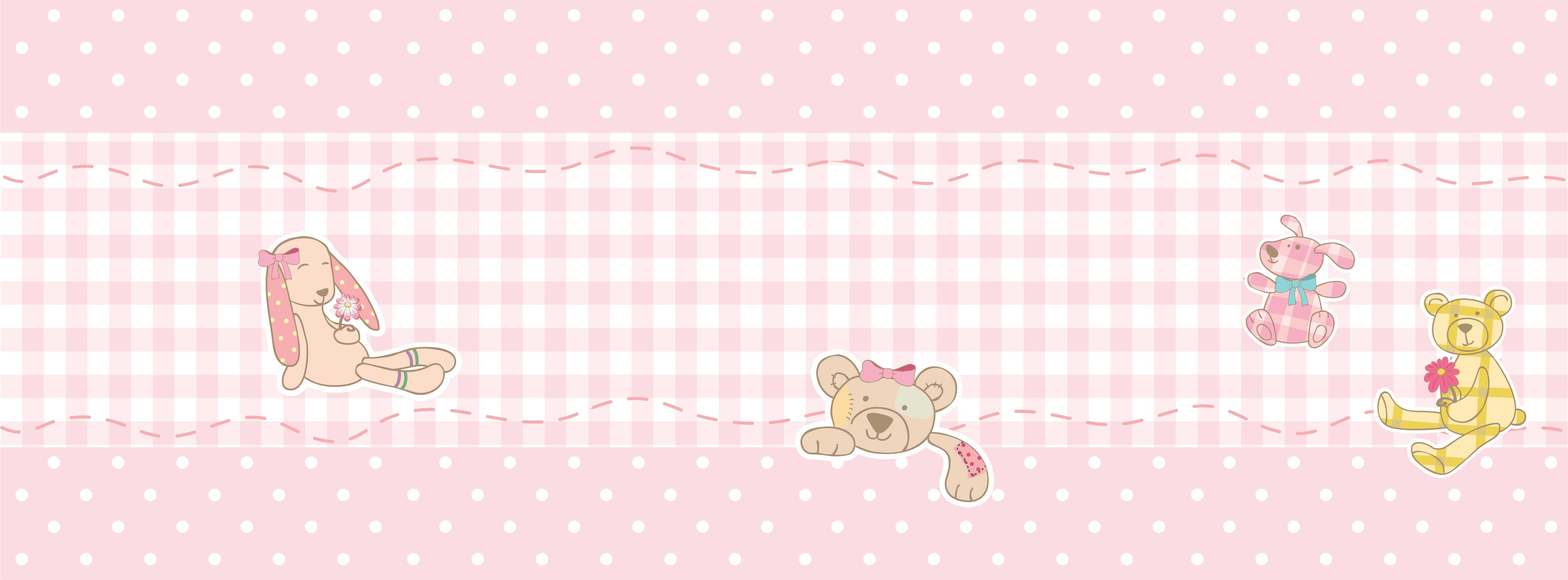 Faixa De Parede Rosa Ursos No Elo7 Virgus Adesivos Especiais B2f0ba