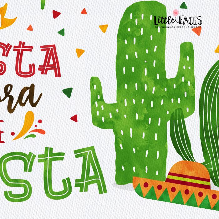Convite Festa Mexicana Infantil Fiesta cactus no Elo7  a25bab130a9