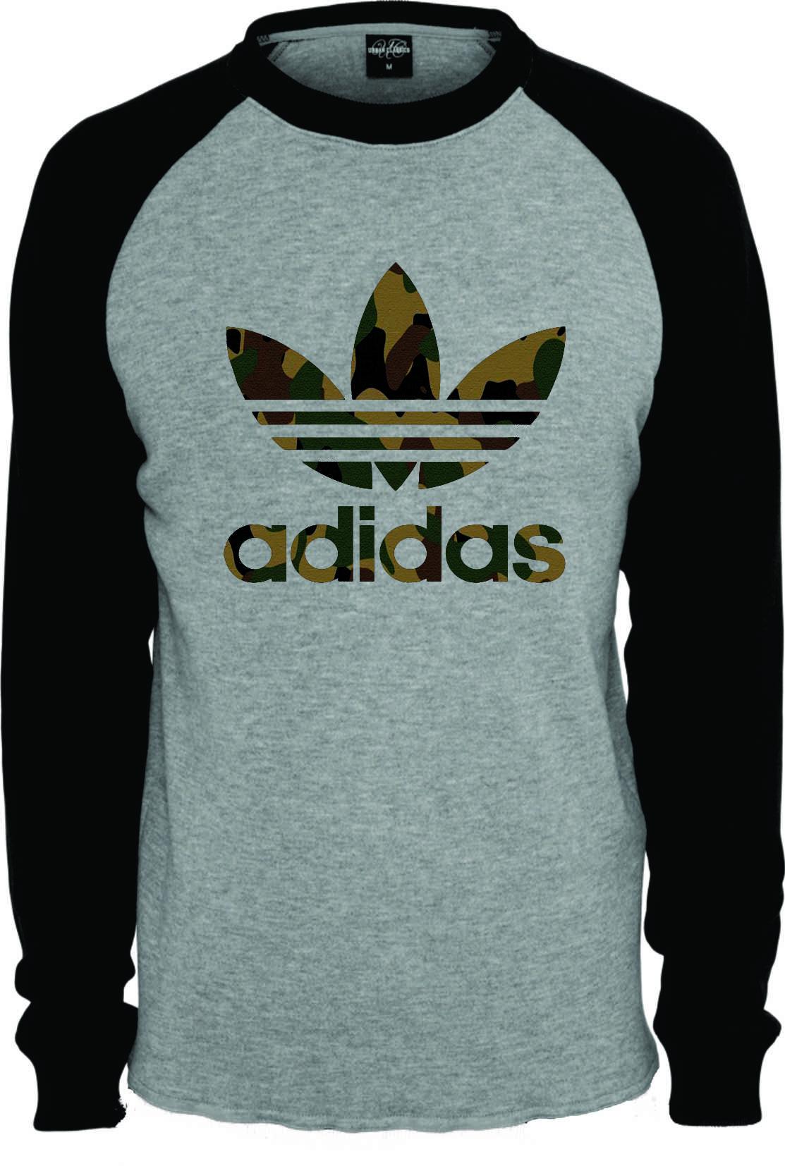 92475c85adb Camiseta Raglan Adidas Manga Curta no Elo7