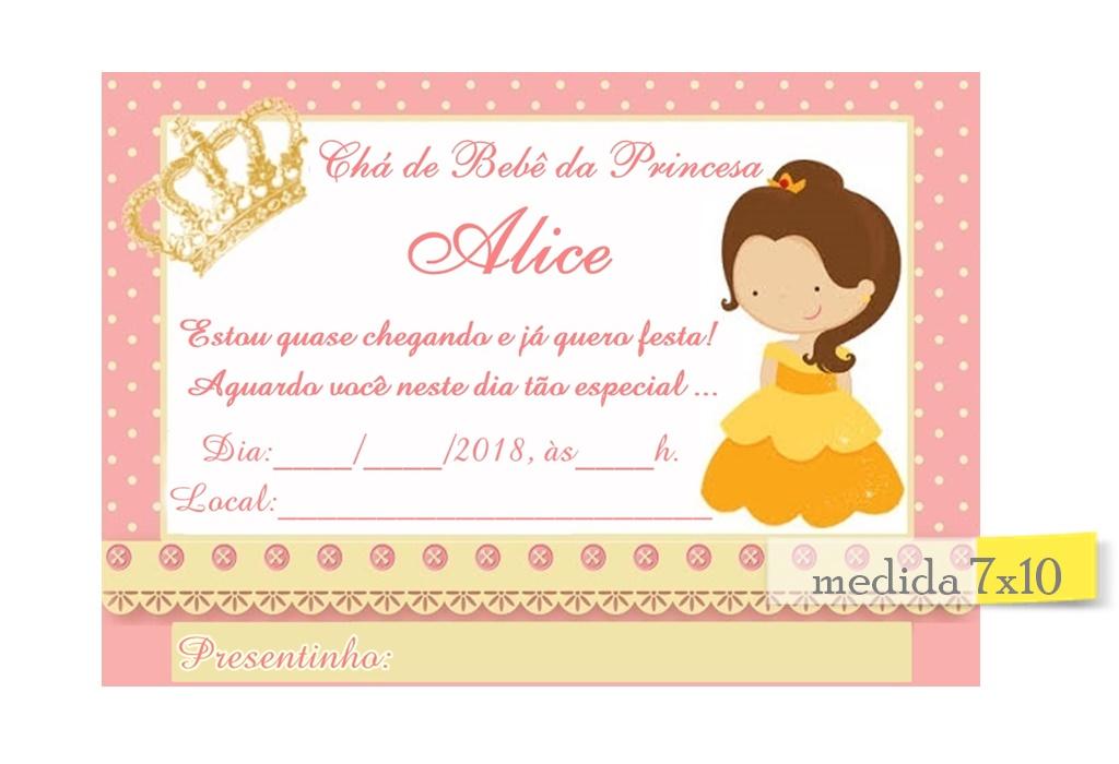 Convites De Chá De Bebê Elo7
