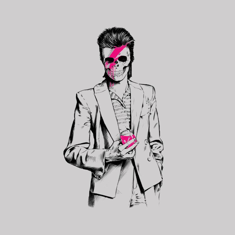 Camiseta David Bowie Masculina no Elo7  4aaa382387d1d