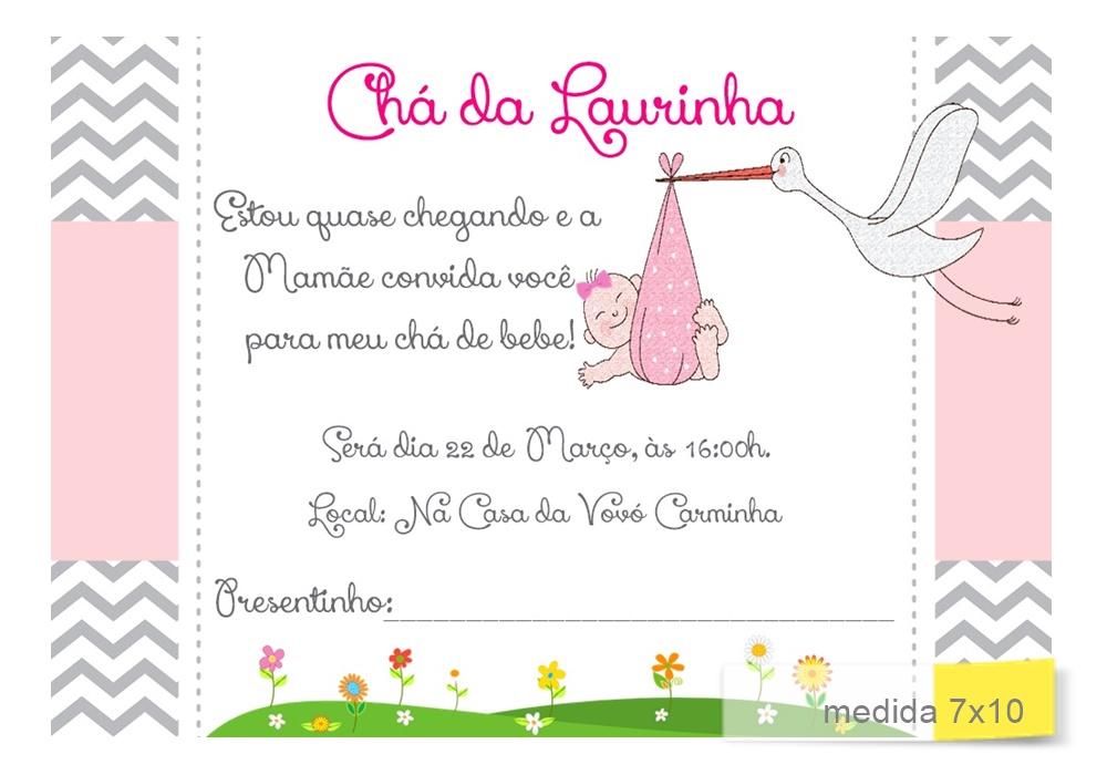 Convite Chá De Bebe Cegonha No Elo7 Acriativa Presentes B36cb0