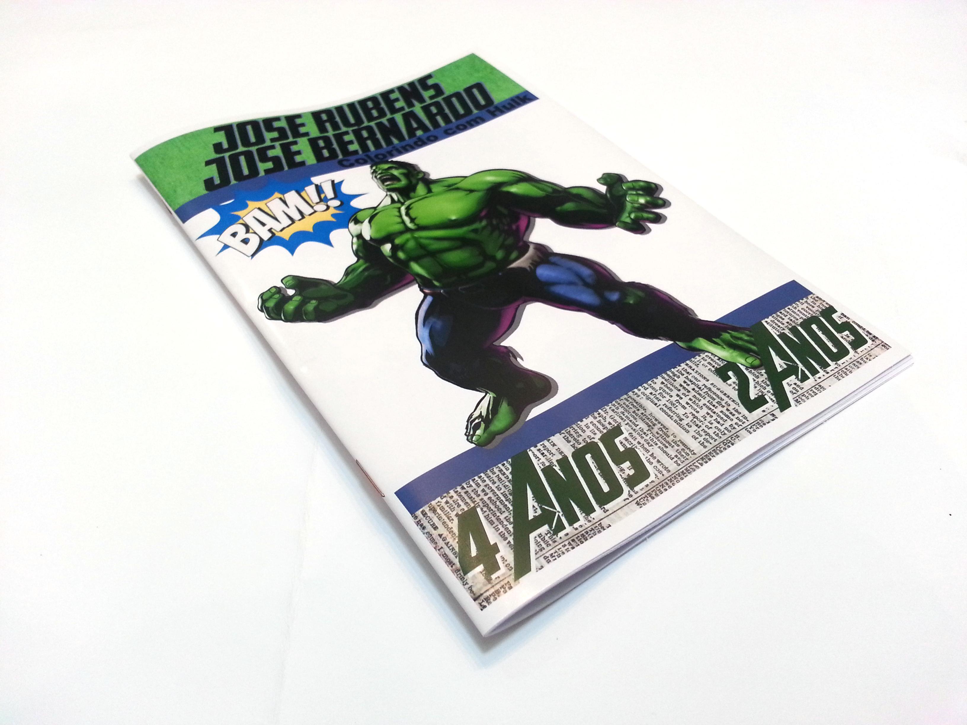 Livreto Para Colorir Hulk Vingadores No Elo7 Personalle Festas