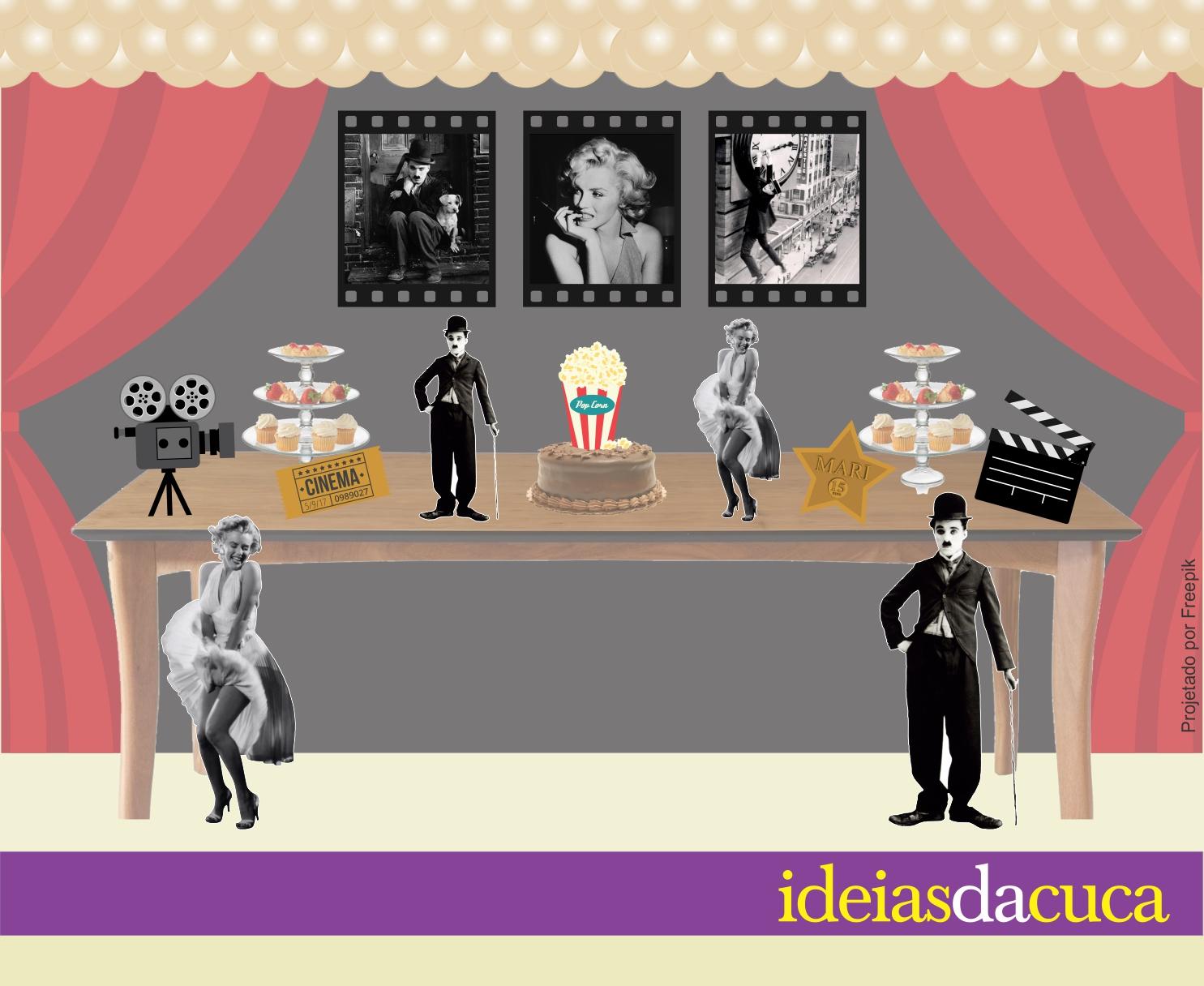 Excepcional Kit Festa Decoração Completa Cinema Hollywood no Elo7 | Ideias da  OU03