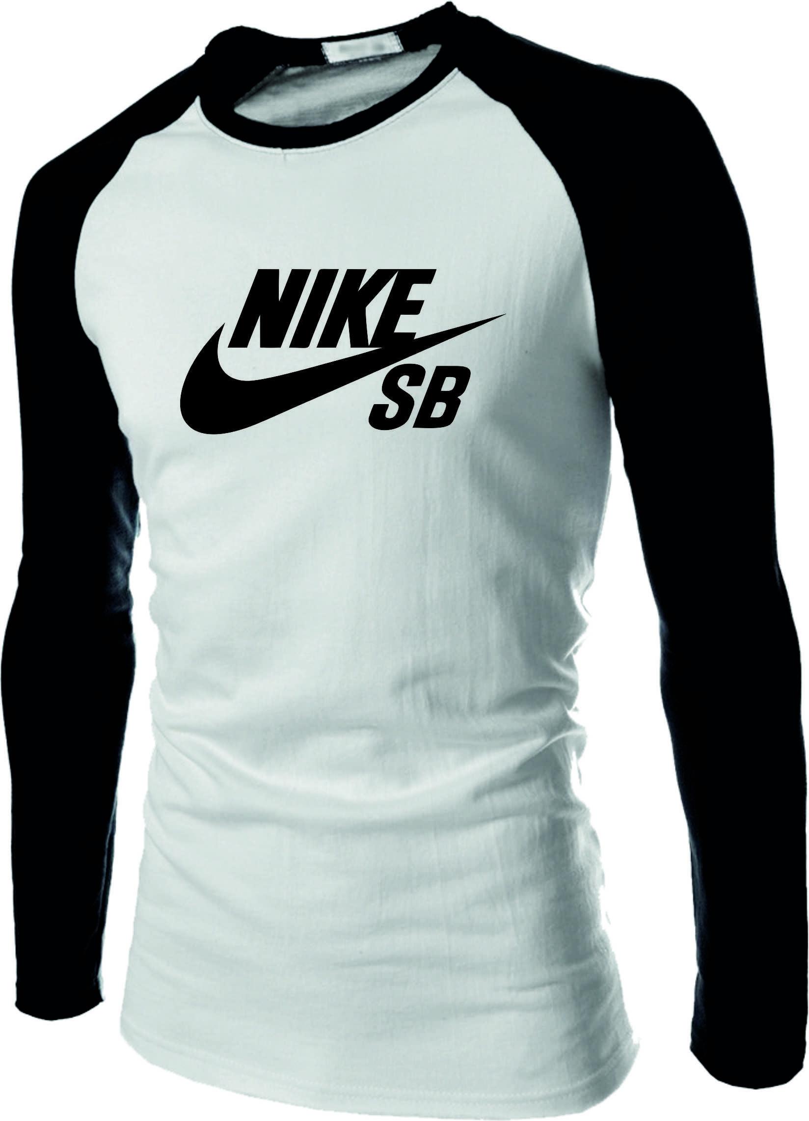 6329f23a2aa1d Camiseta camisa Nike Raglan Manga Longa no Elo7