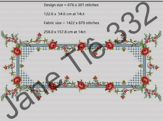 Gráfico De Ponto Cruz Toalha De Mesa 332 Segunda Versão Jt No Elo7 Jane Tiê Gráficos De Ponto Cruz B3e703