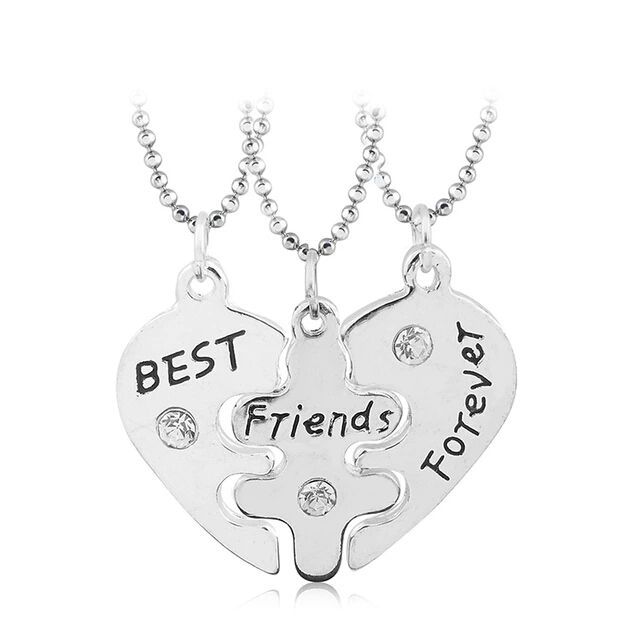 122ae9415fc Colar Best Friends Forever Coracao