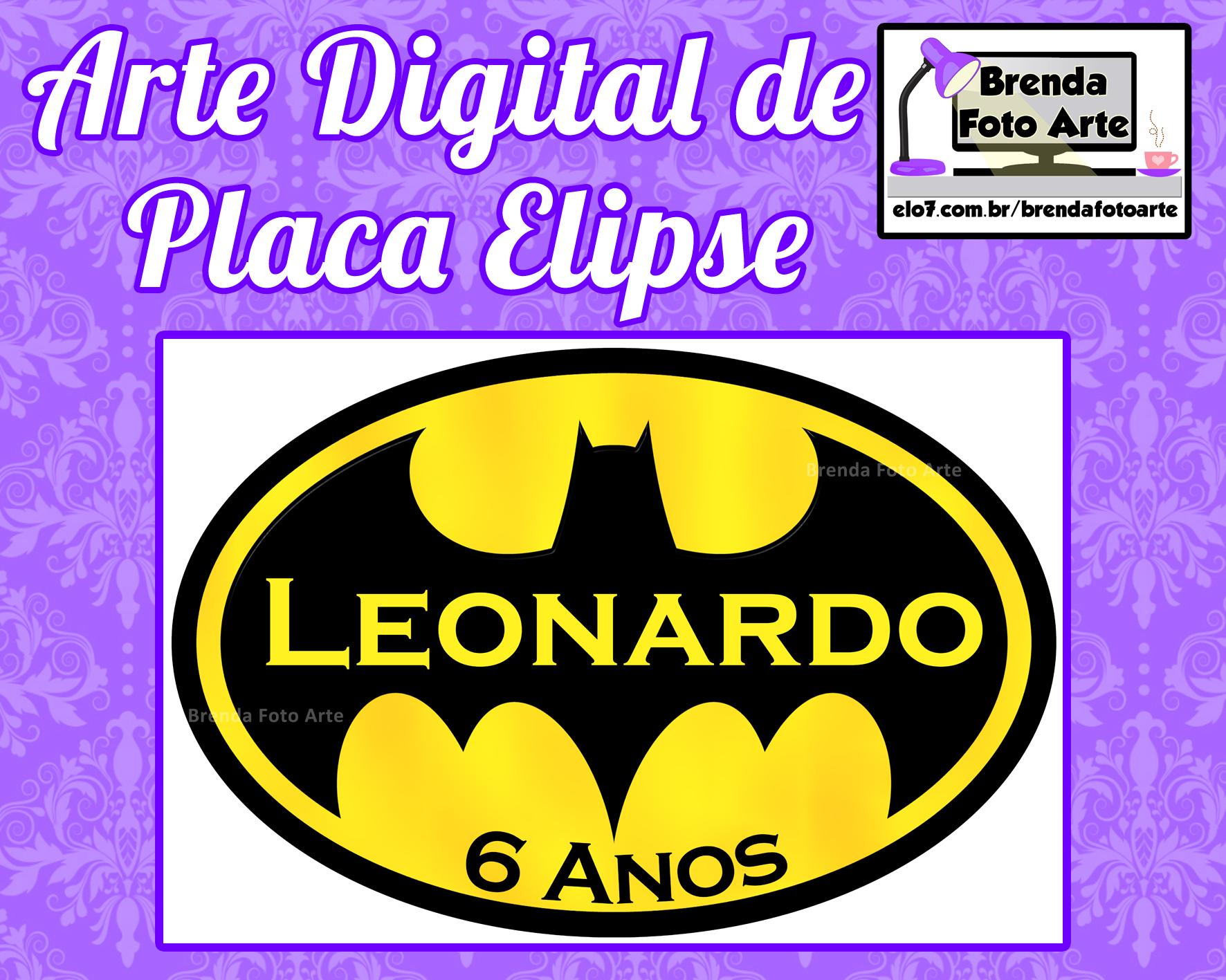 Arte Digital Placa Elipse Batman no Elo7  9a9fe3c93232e