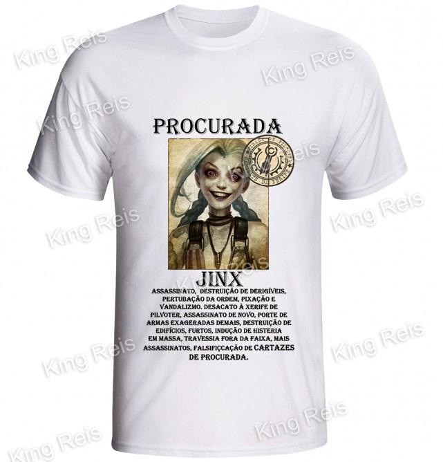 3ed15997ac Camiseta personalizada jinx no Elo7