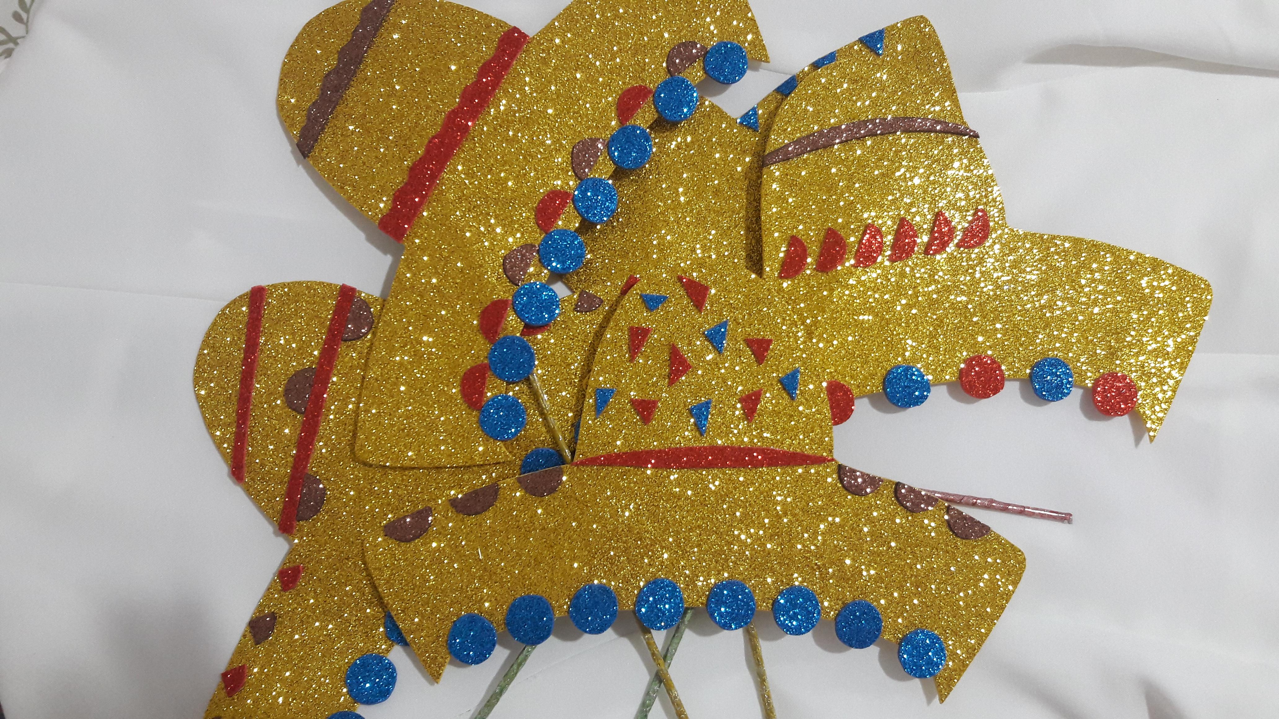 1d9633e39e867 Kit plaquinha de chapéu mexicano no Elo7