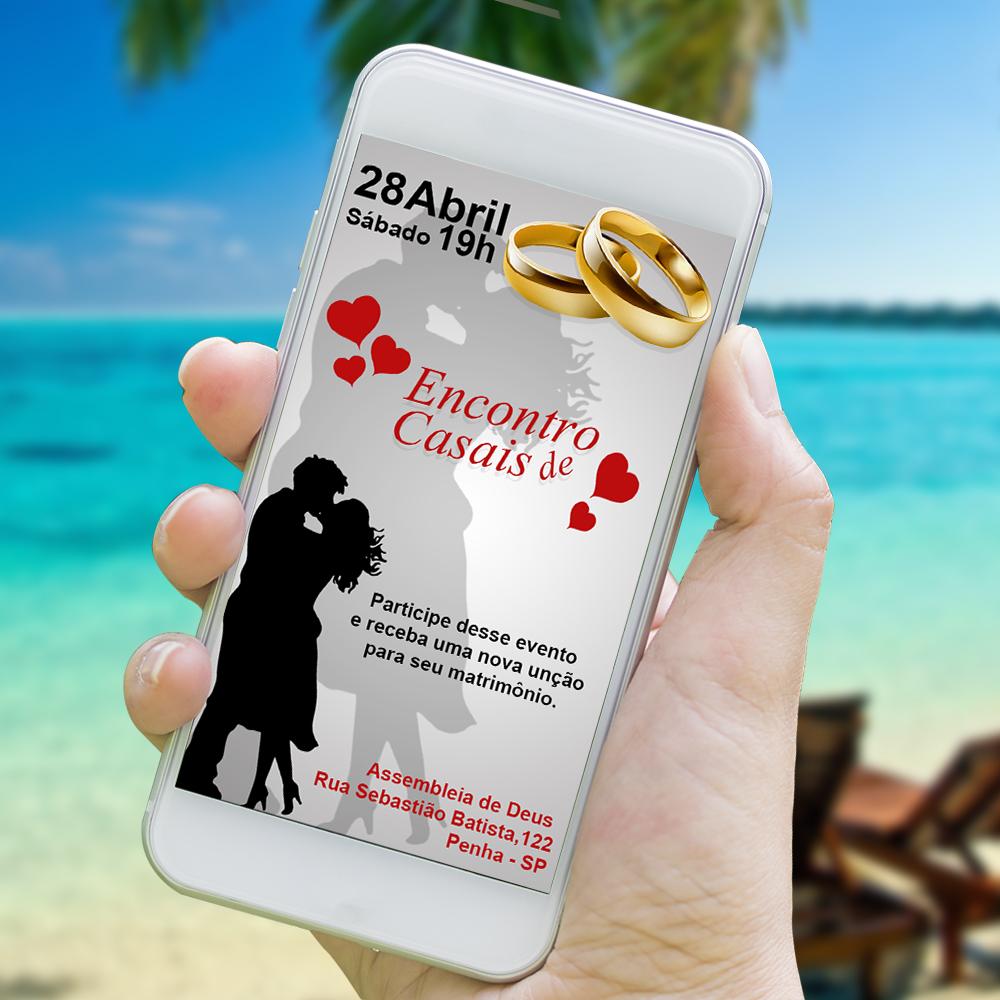 Convite Digital Encontro De Casais Whatsapp No Elo7 Great Design