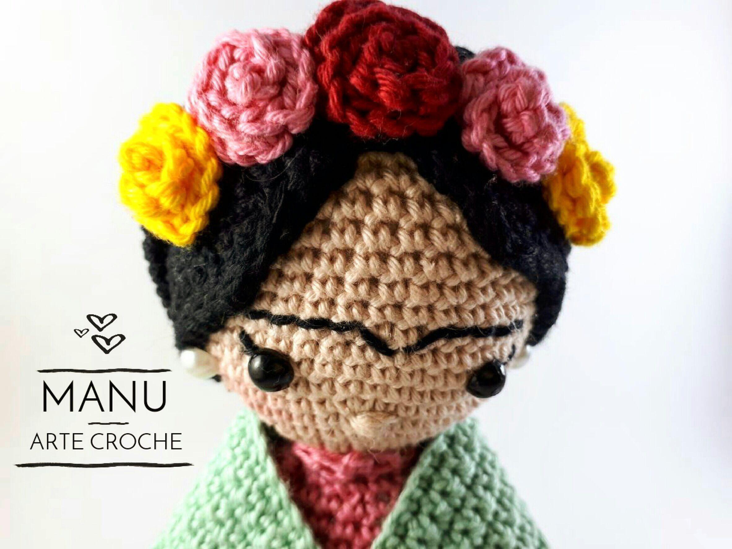 Amigurumi Frida Kahlo : Mini frida kahlo crochet amigurumi en mercado libre