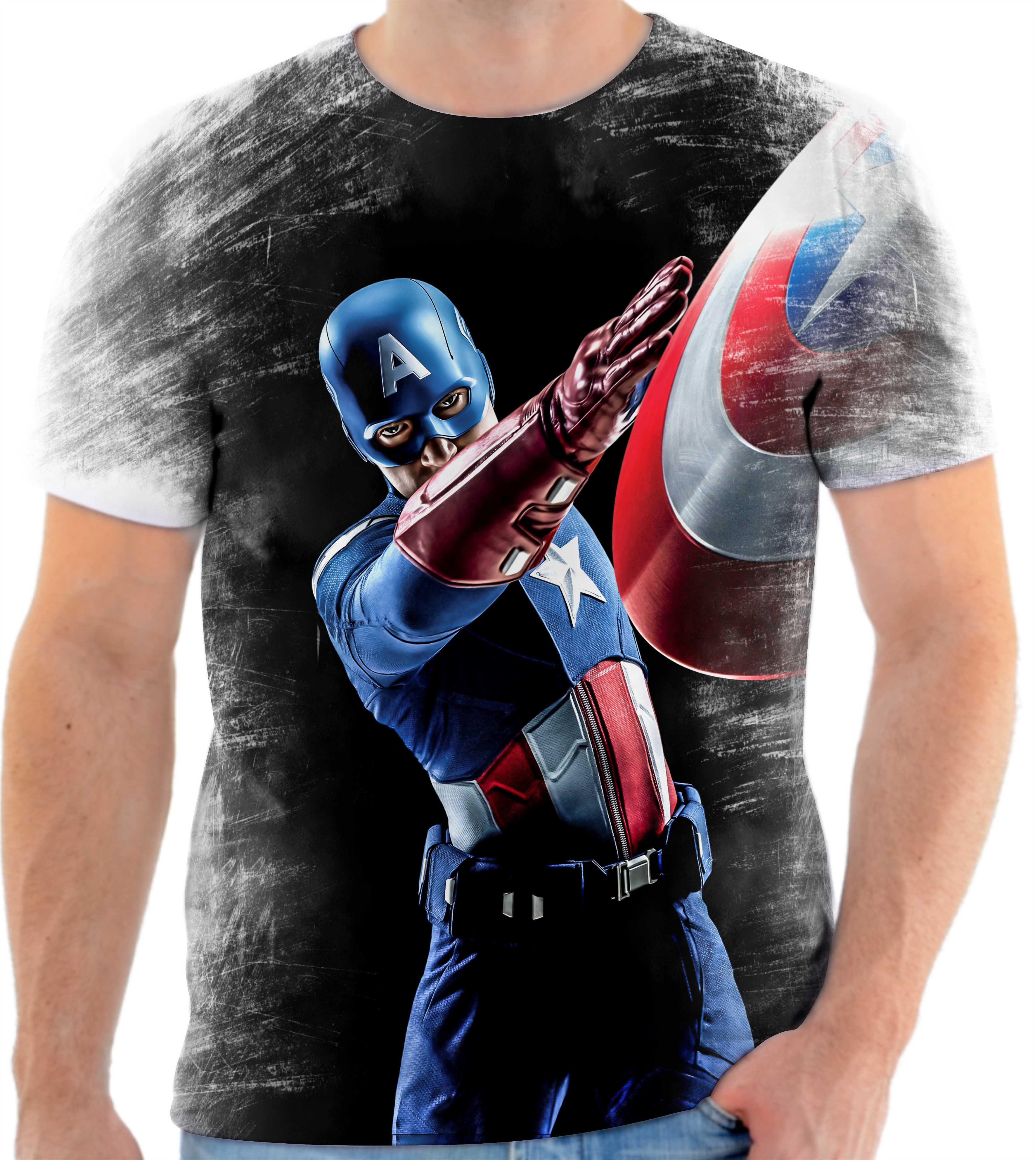 Camiseta Camisa Personalizada Capitao America Full Hd 14  02c1c6b4c29