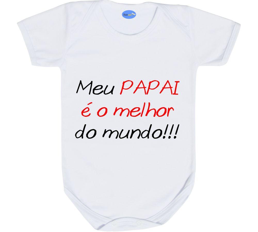 Body Bebê Divertido Frase De Amor Pelo Papai No Elo7 Loja Bebê Mel