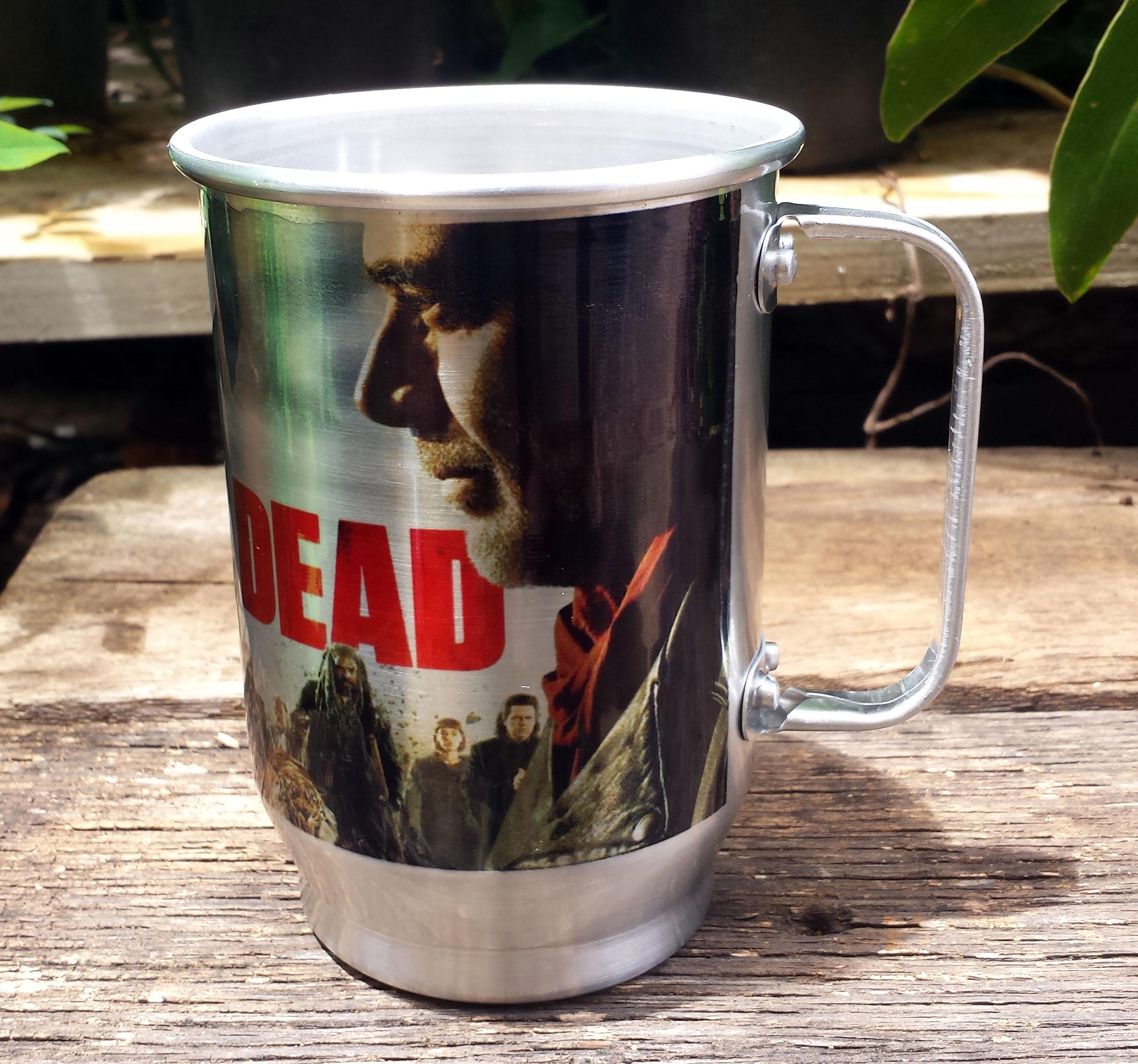 de5db33716 Caneca de Aluminio Chopp Personalizada The Walking Dead | Elo7
