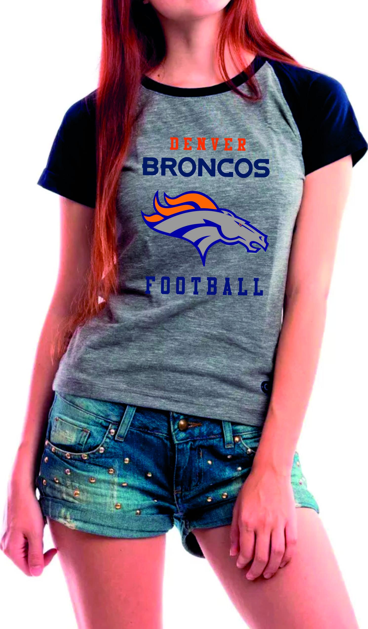 9ab258a61 Camiseta Raglan -Baby Look Denver Broncos Futebol Americano no Elo7 ...