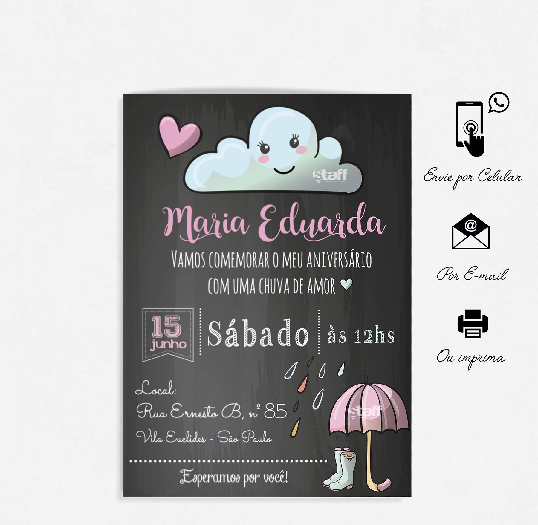 Convite Chuva De Amor Elo7