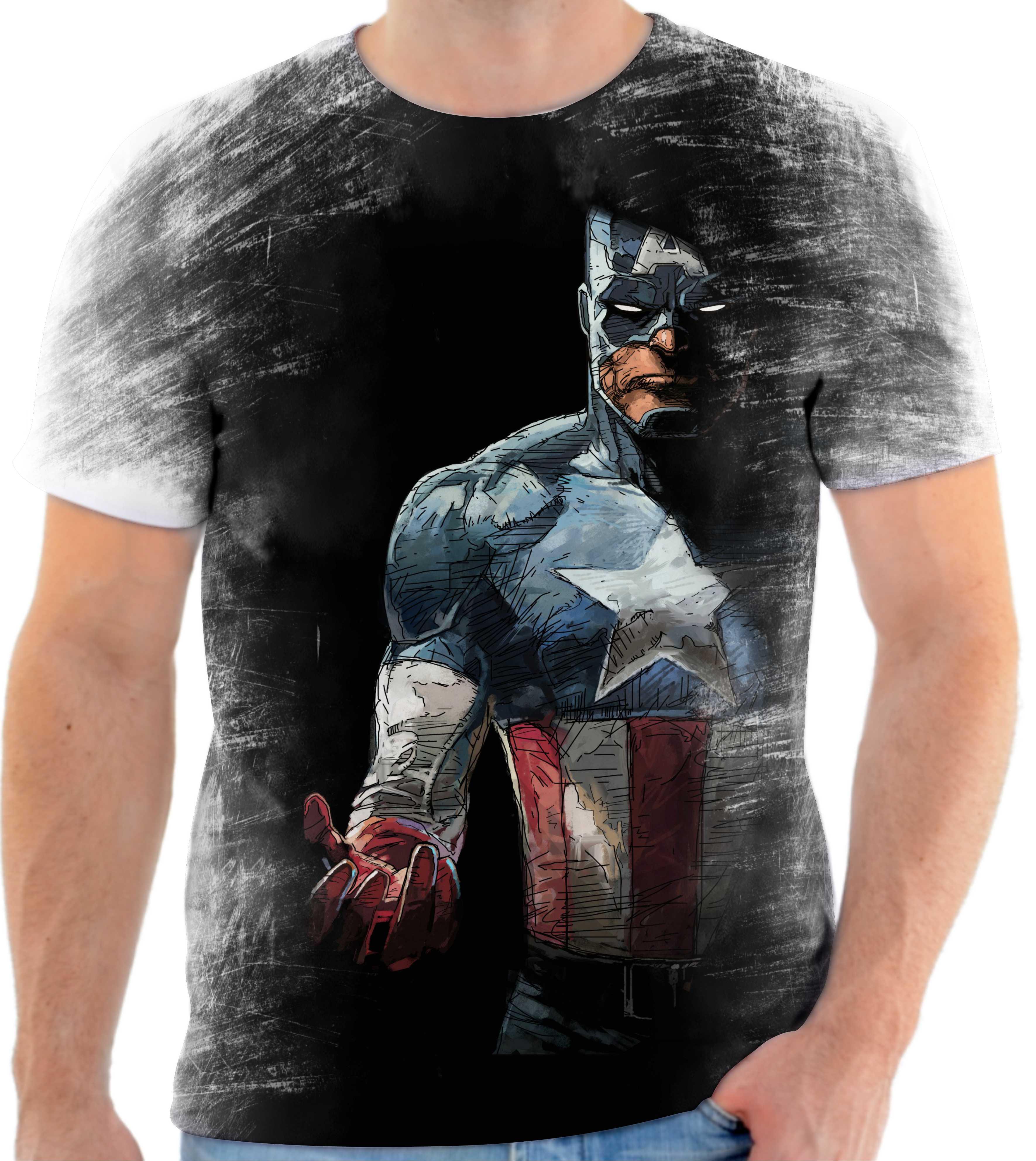 Camiseta camisa Personalizada Capitão América Full Hd 28 no Elo7 ... 5ce65ef6a3b