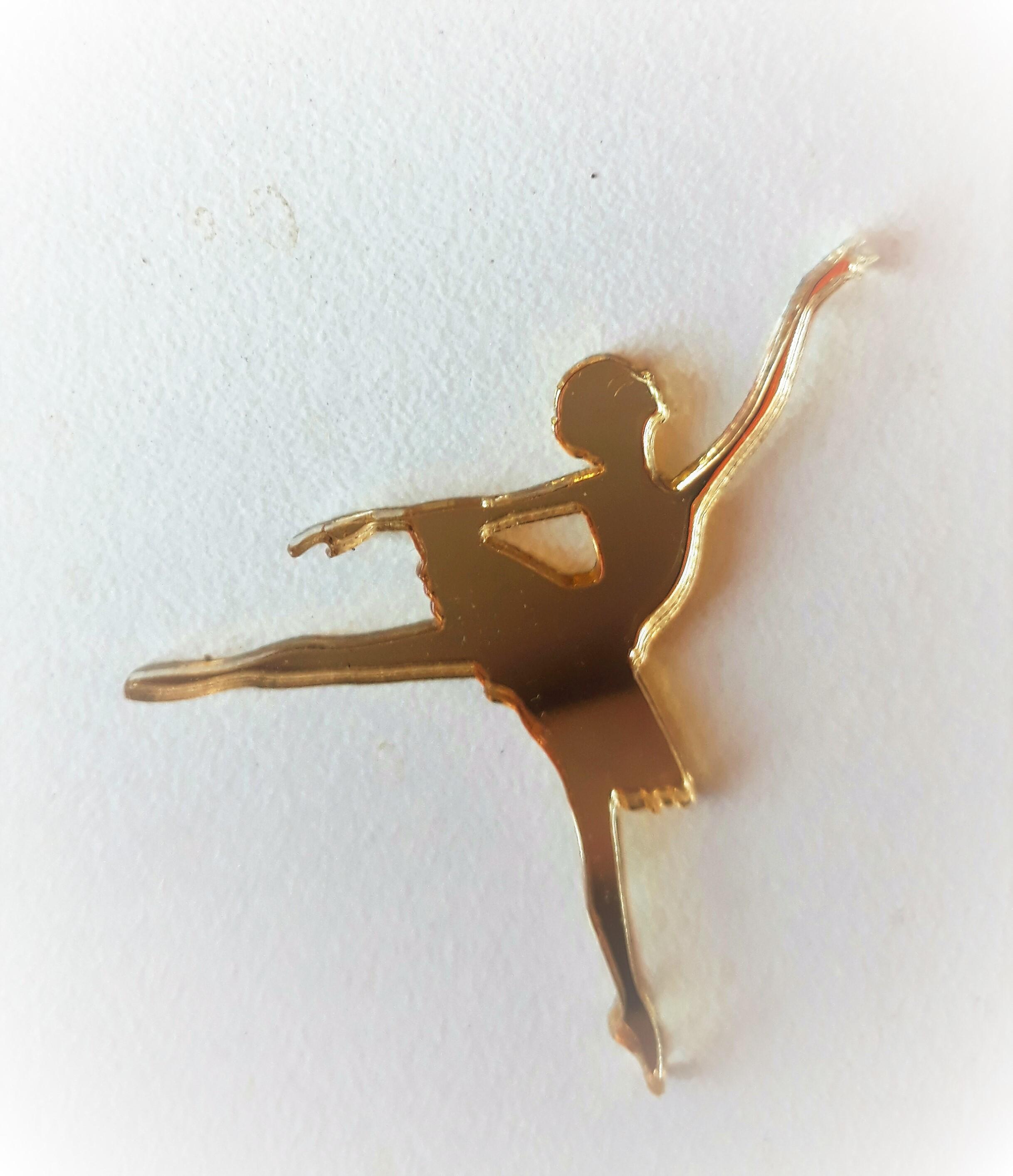 7ffc0f2ad2 Bailarina em Acrilico Espelhado