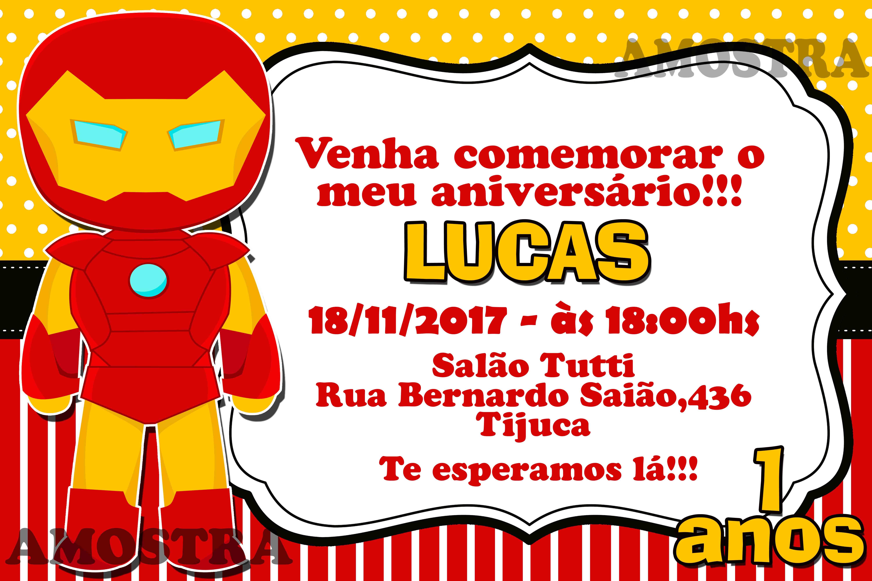 Convite Digital Homem De Ferro No Elo7 Te Convite B5ad40