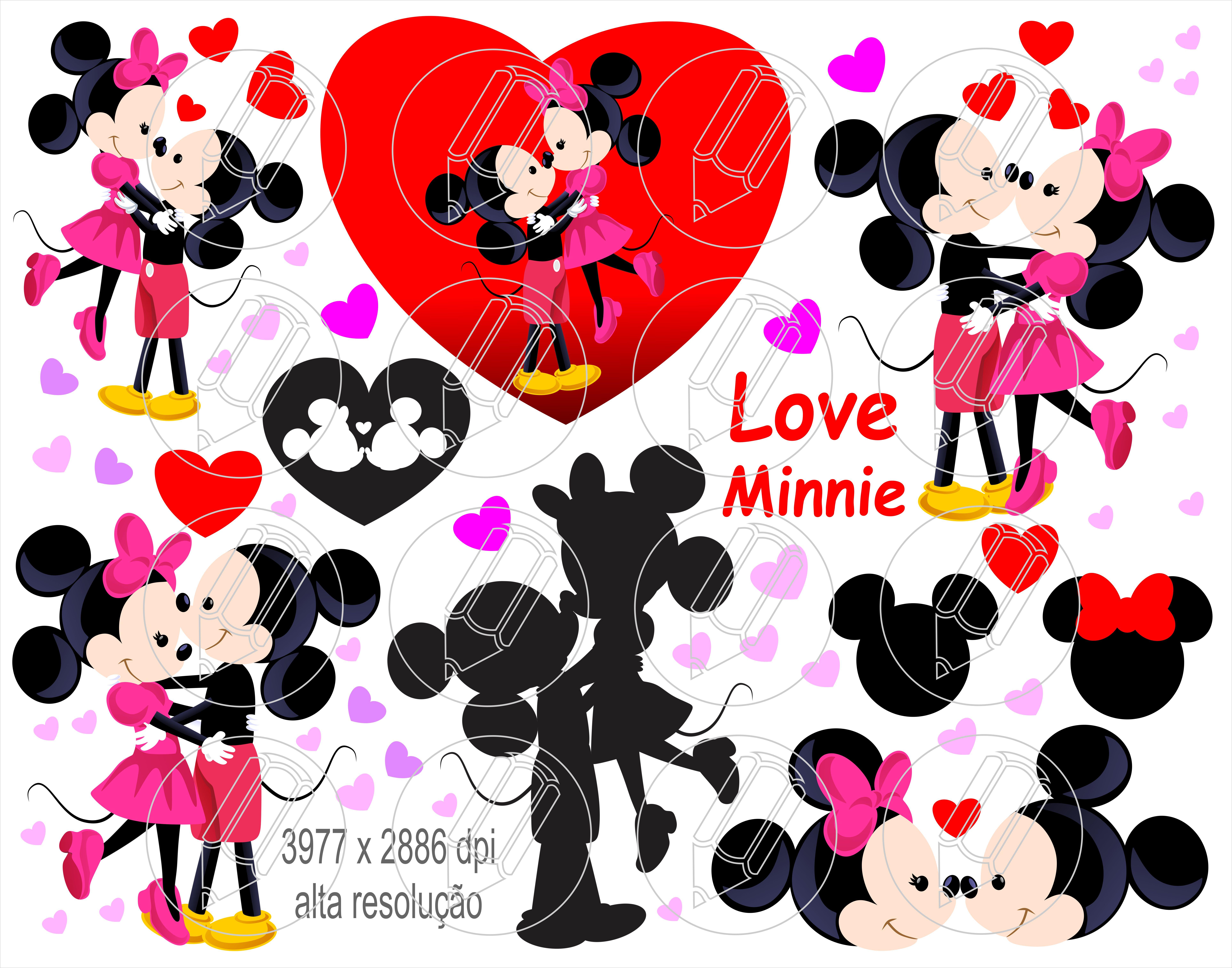 Minnie Romantica Mickey Vetor Corel E Png Ilustrator No Elo7 Mr