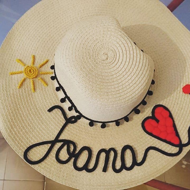 Chapéu de Praia Personalizado com Nome no Elo7  fd5f4249bd8